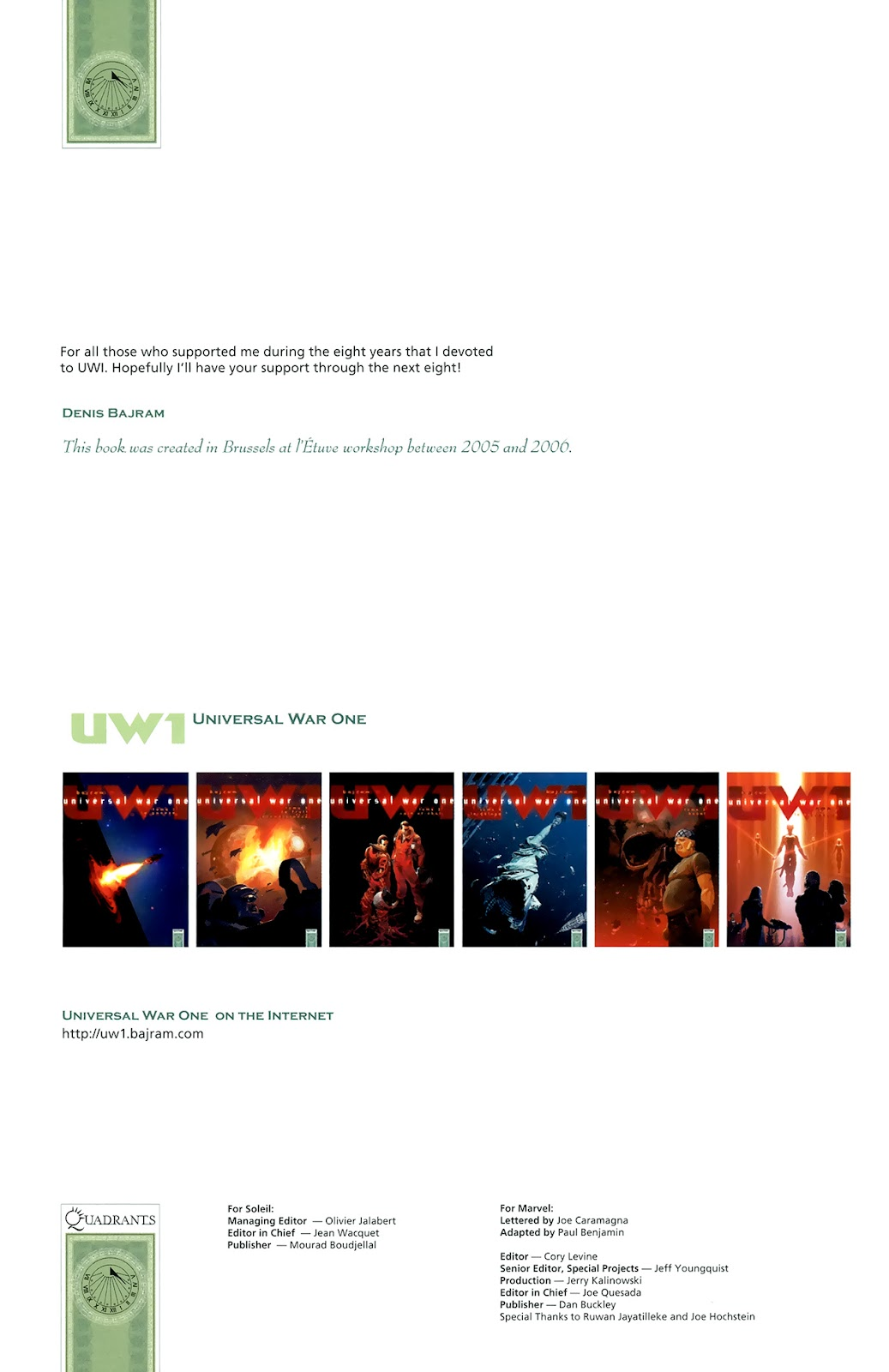 Read online Universal War One: Revelations comic -  Issue #3 - 4
