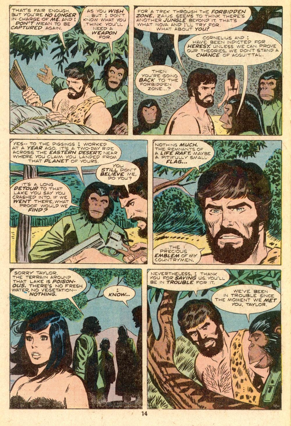 Read online Adventures on the Planet of the Apes comic -  Issue #5 - 9