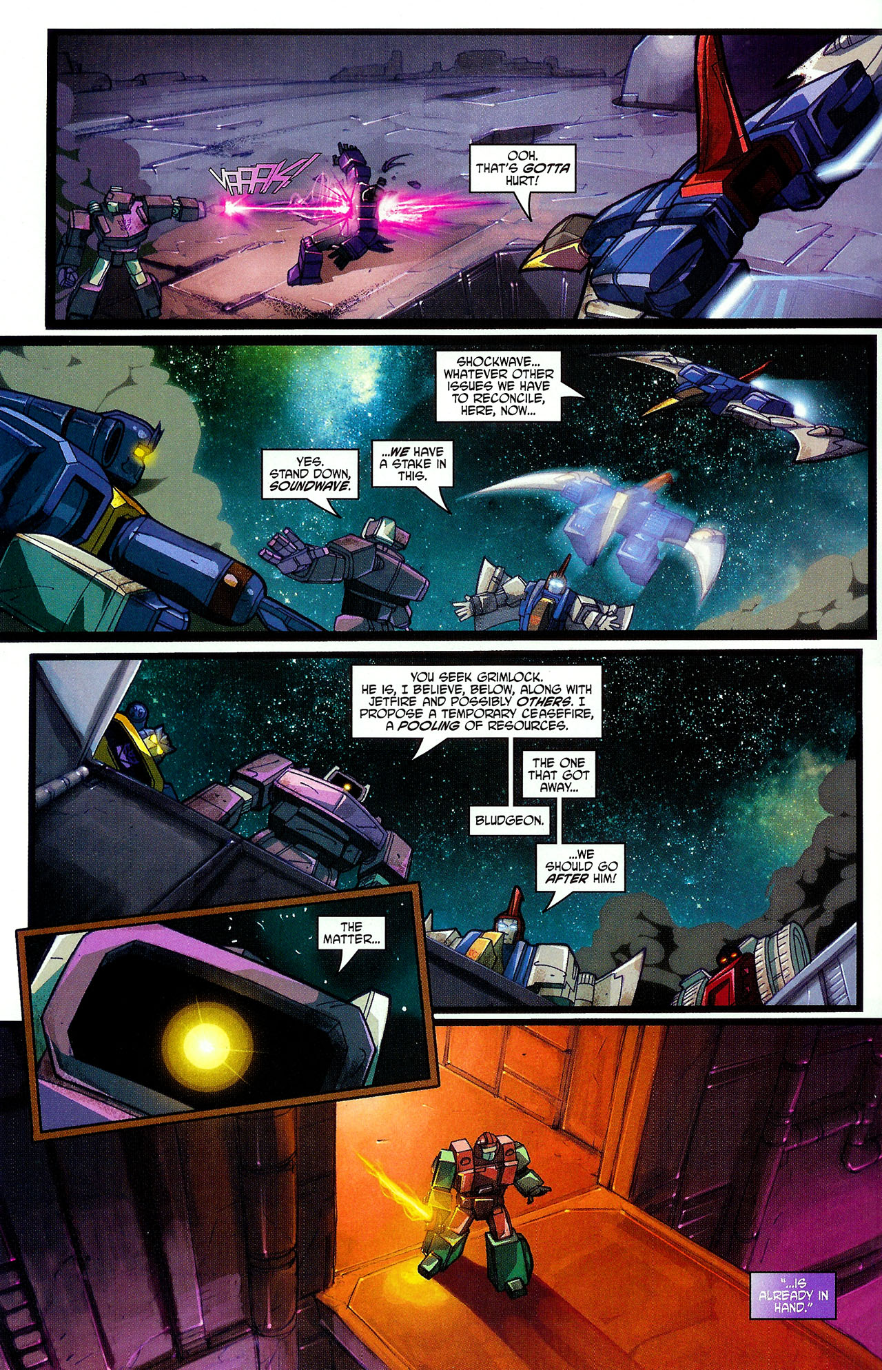 "Read online Transformers War Within: ""The Dark Ages"" comic -  Issue #6 - 12"