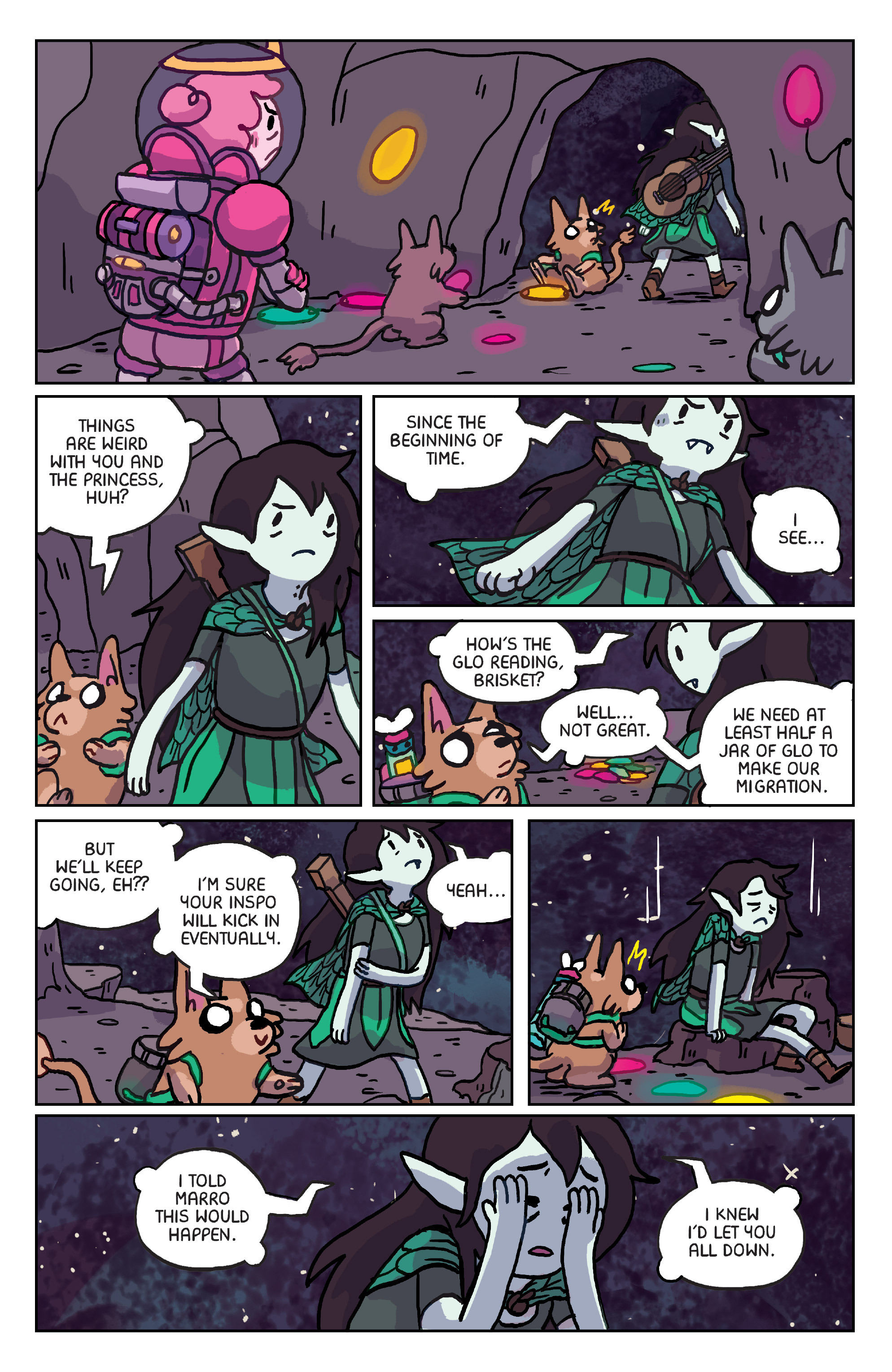 Read online Adventure Time: Marceline Gone Adrift comic -  Issue #6 - 6