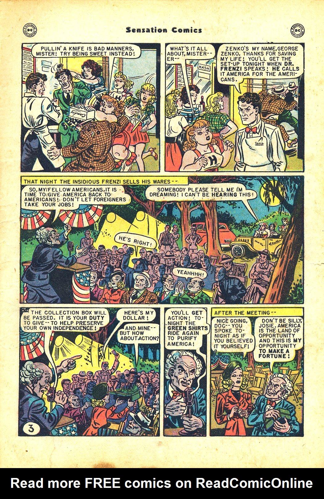 Read online Sensation (Mystery) Comics comic -  Issue #81 - 5
