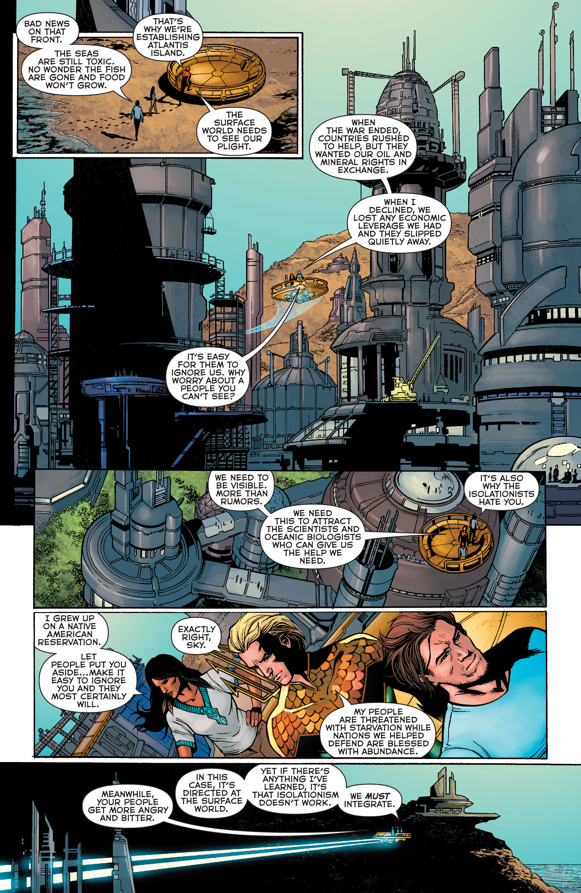 Read online Aquaman: Futures End comic -  Issue #Aquaman: Futures End Full - 8