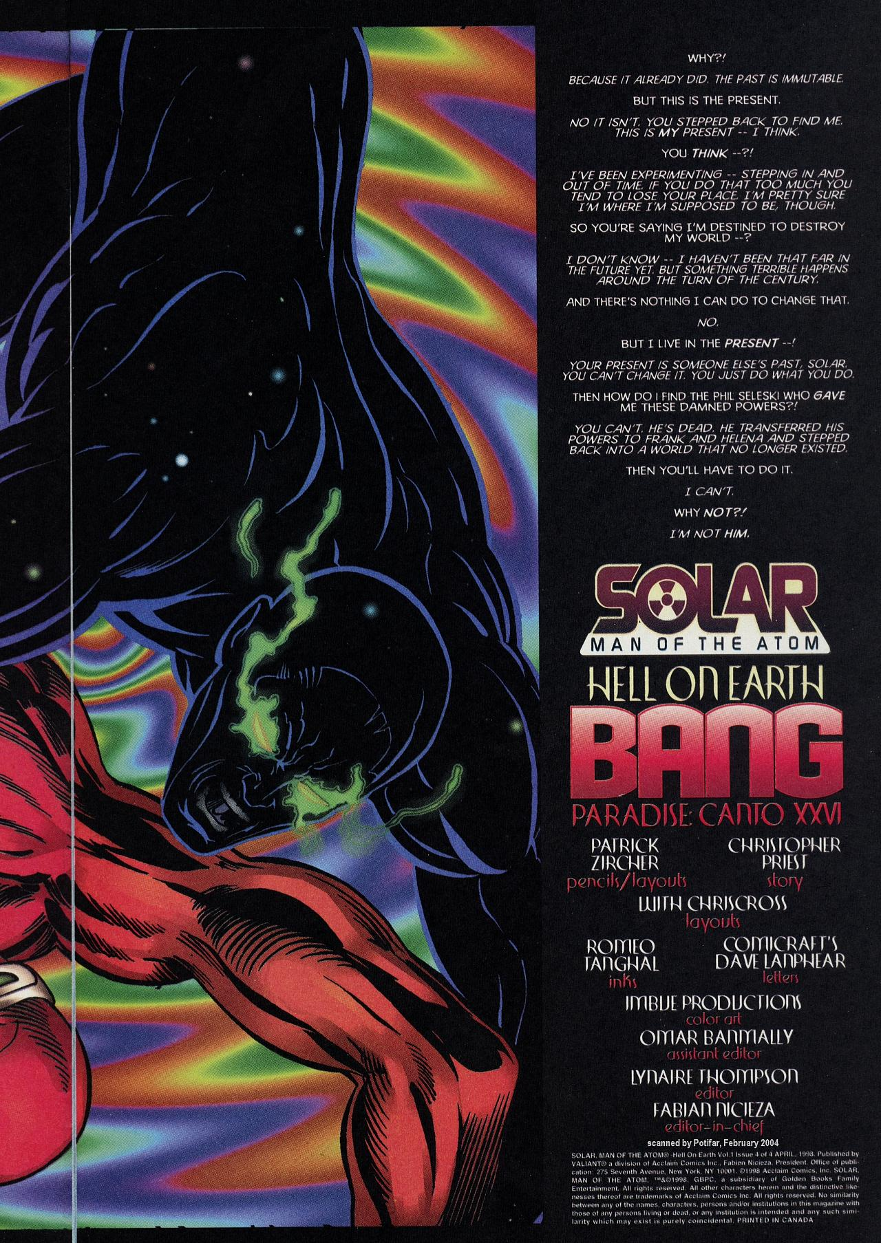 Read online Solar, Man of the Atom: Hell on Earth comic -  Issue #4 - 5