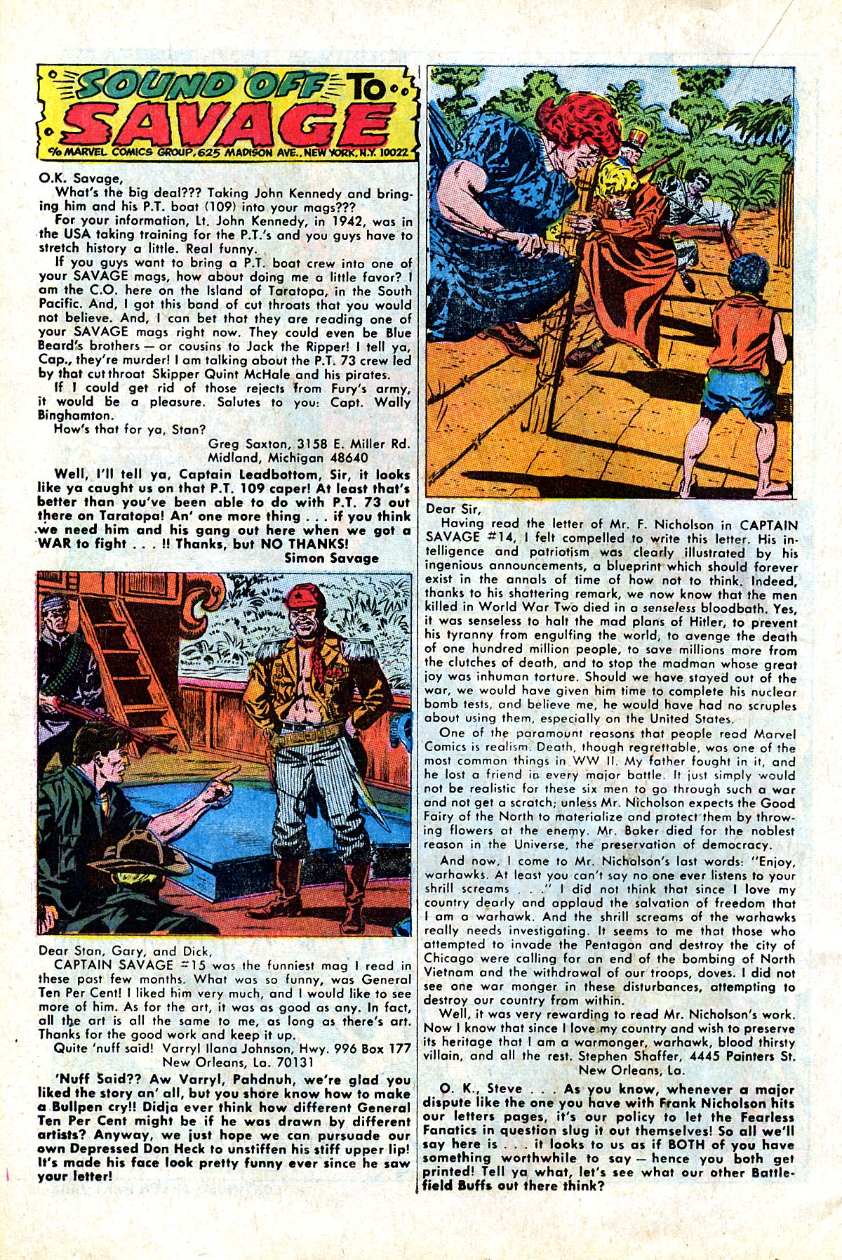 Captain Savage and his Leatherneck Raiders issue 17 - Page 22