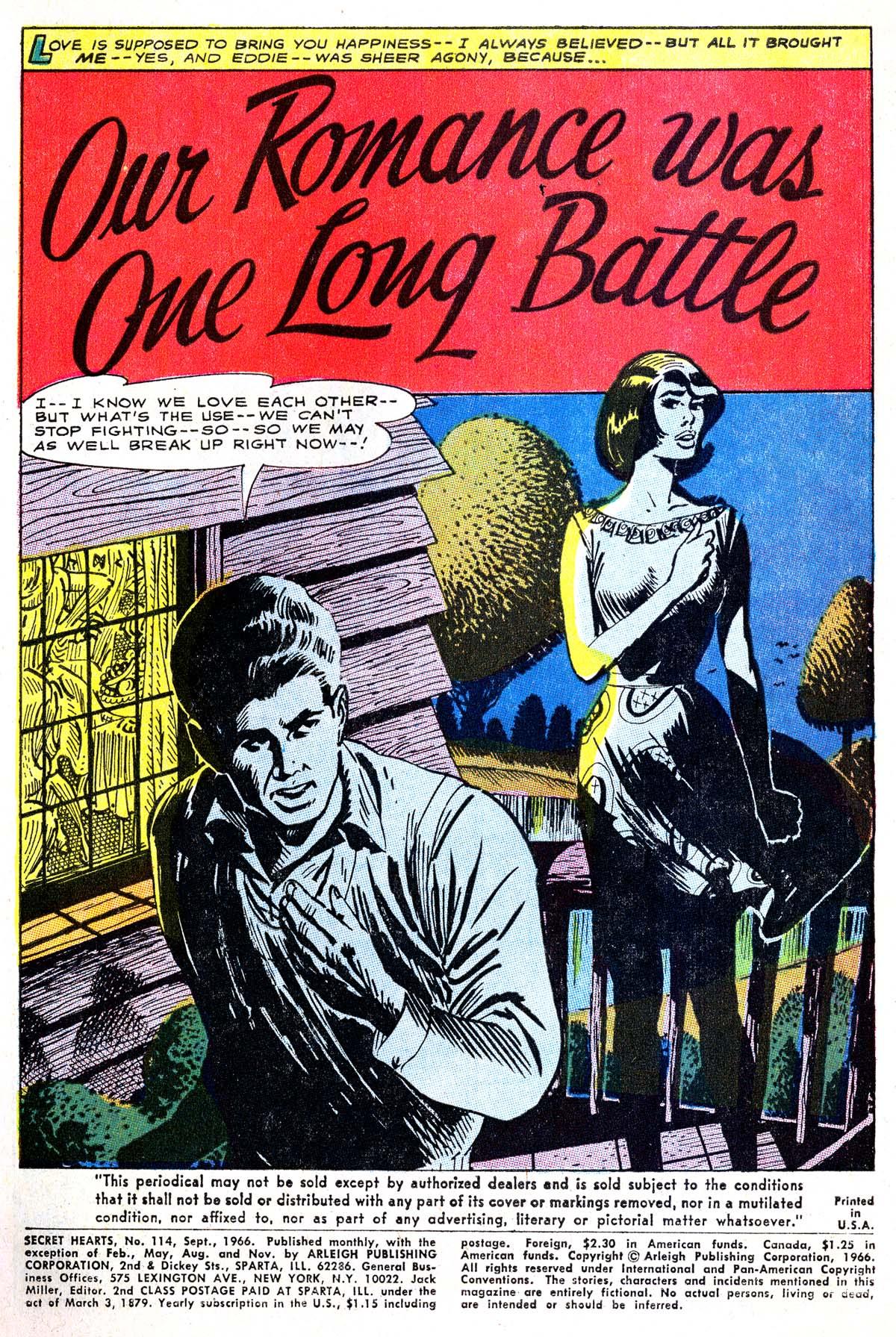 Read online Secret Hearts comic -  Issue #114 - 3