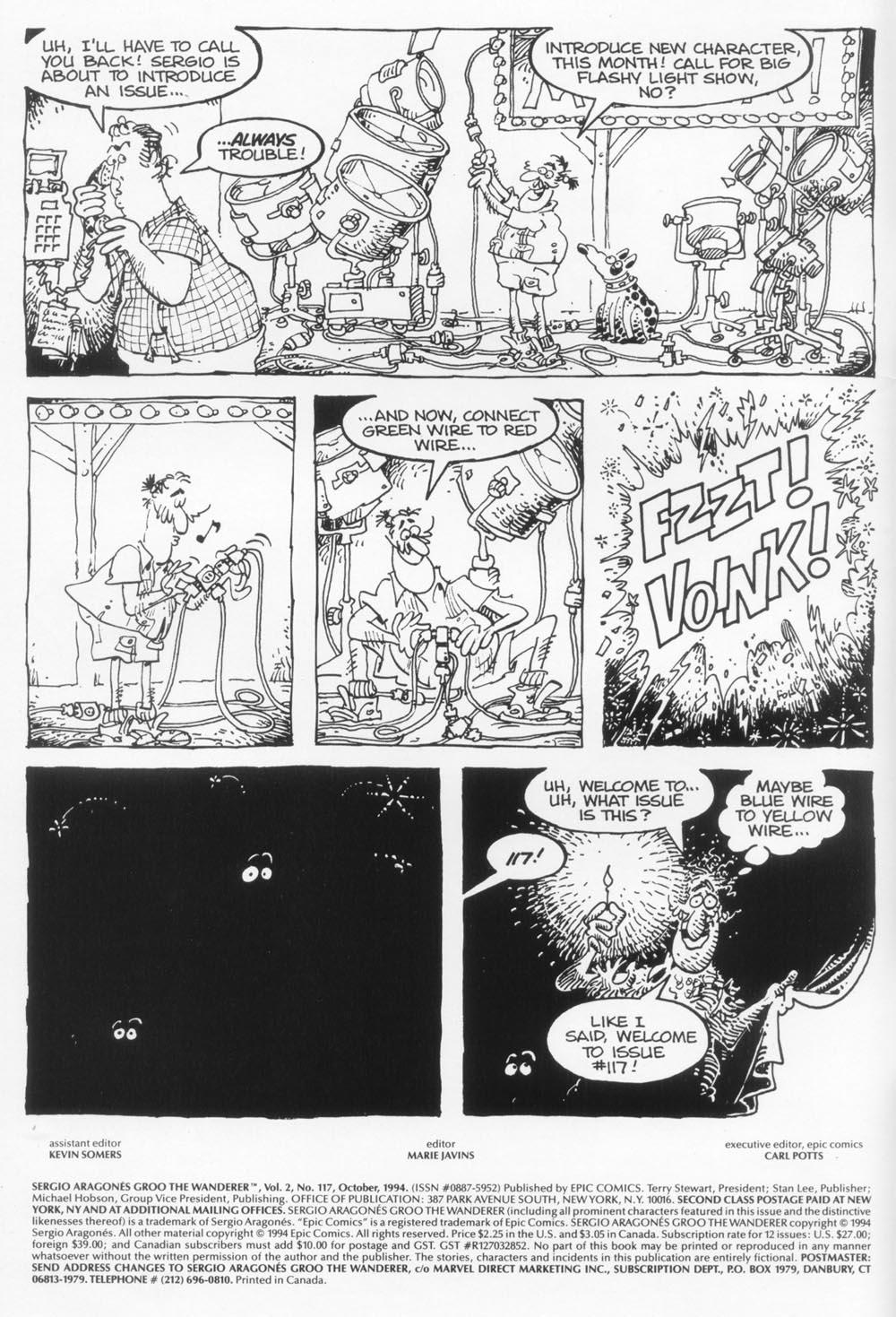 Read online Sergio Aragonés Groo the Wanderer comic -  Issue #117 - 2