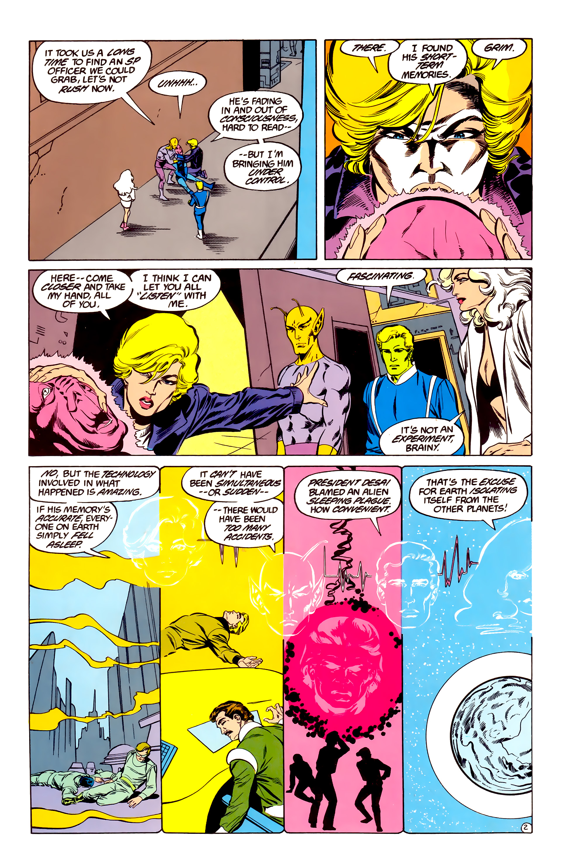 Legion of Super-Heroes (1984) 35 Page 2