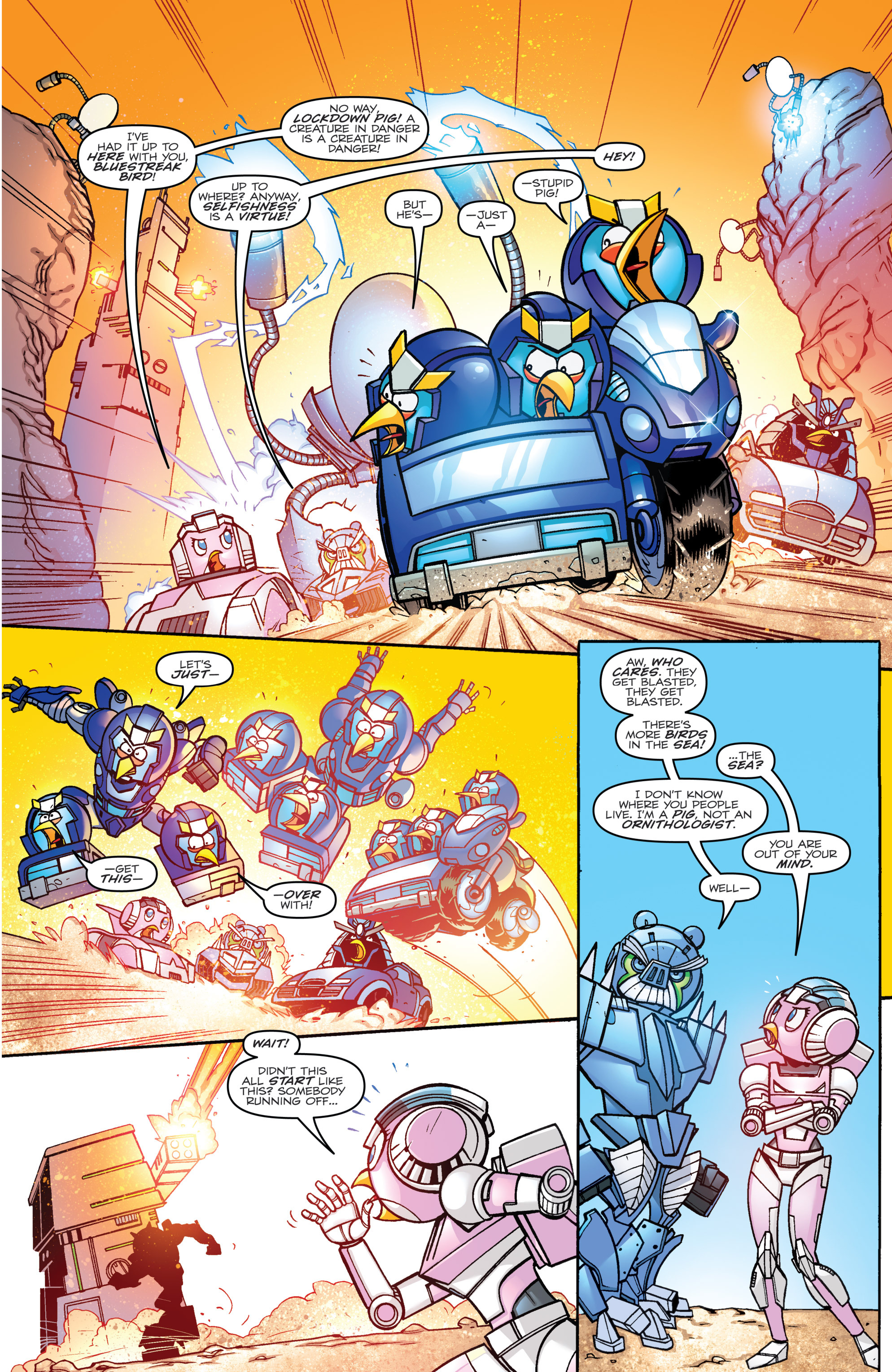 Read online Angry Birds Transformers comic -  Issue #3 - 8