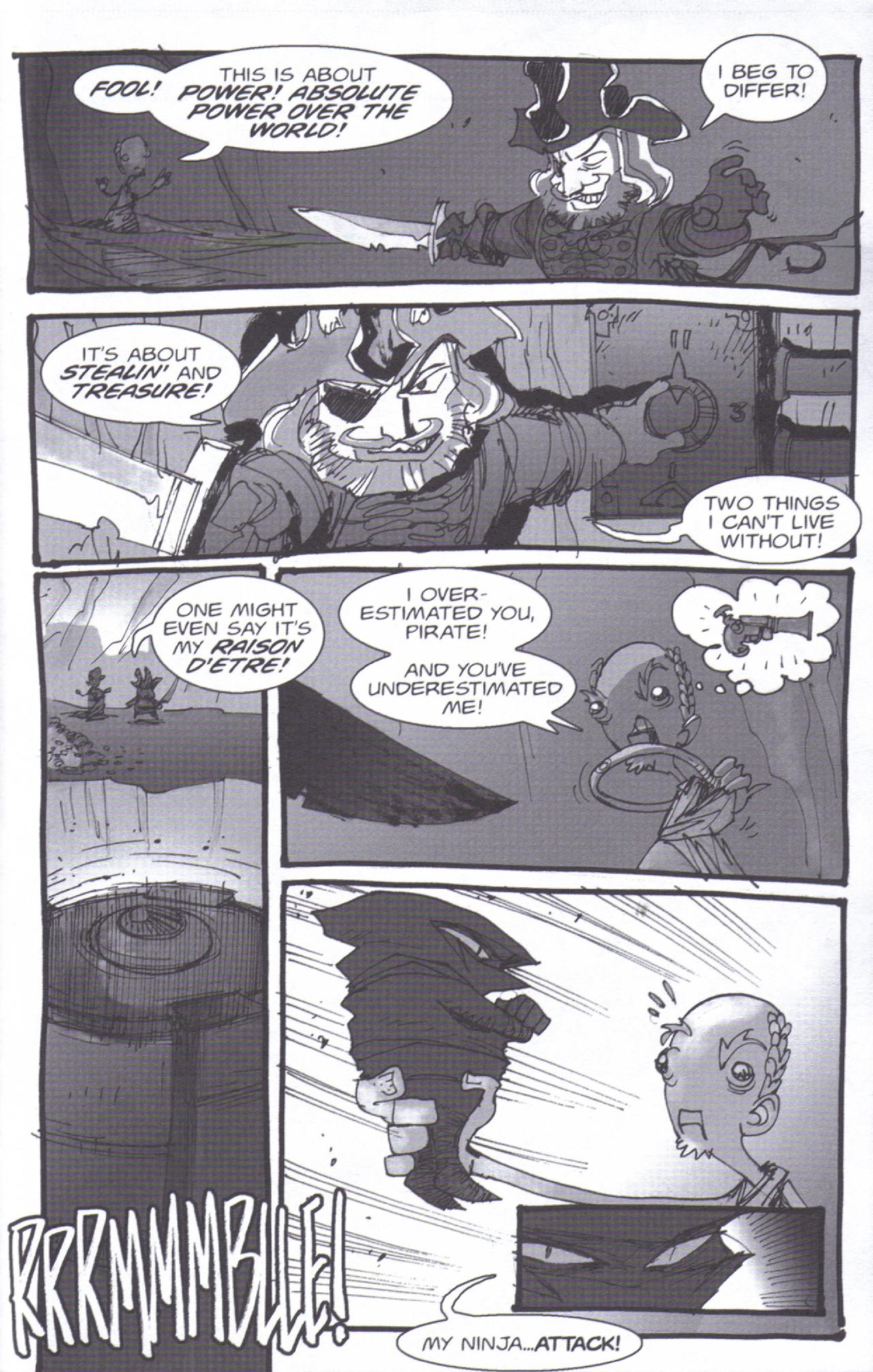 Read online Pirates vs. Ninjas: Global Harming comic -  Issue # Full - 22
