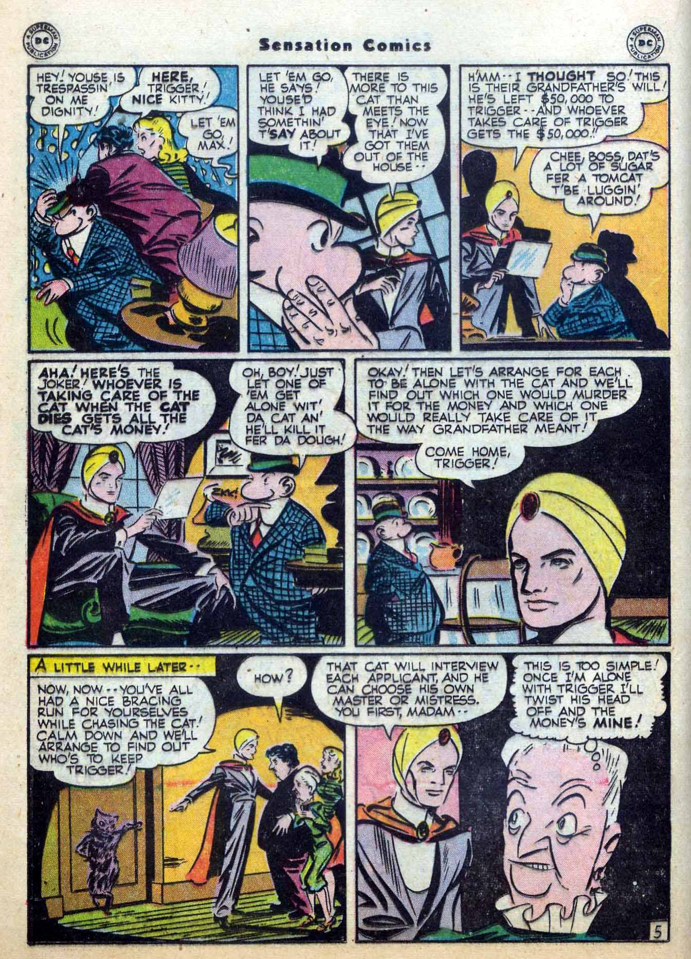 Read online Sensation (Mystery) Comics comic -  Issue #59 - 28
