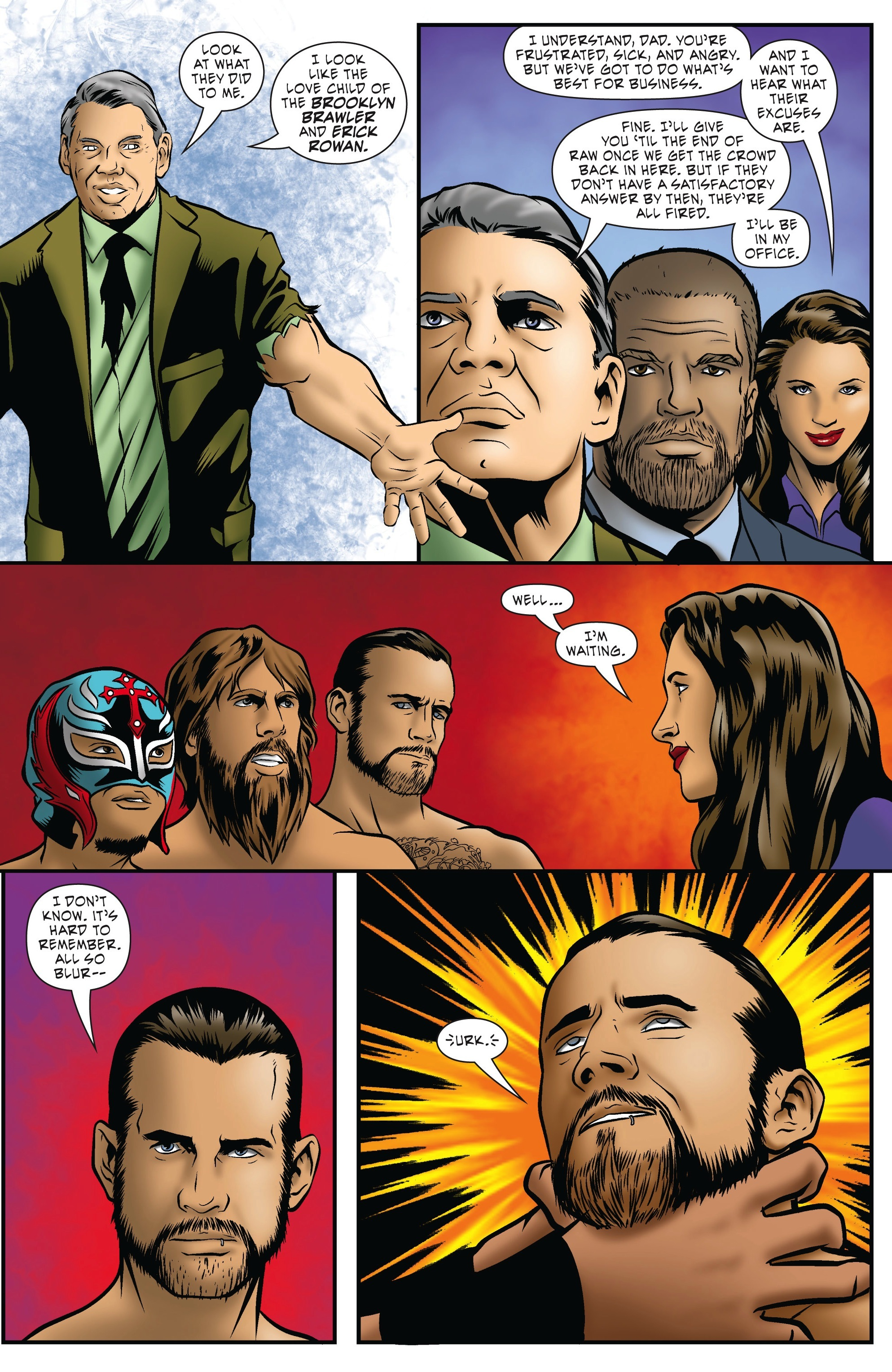Read online WWE Superstars comic -  Issue #5 - 7