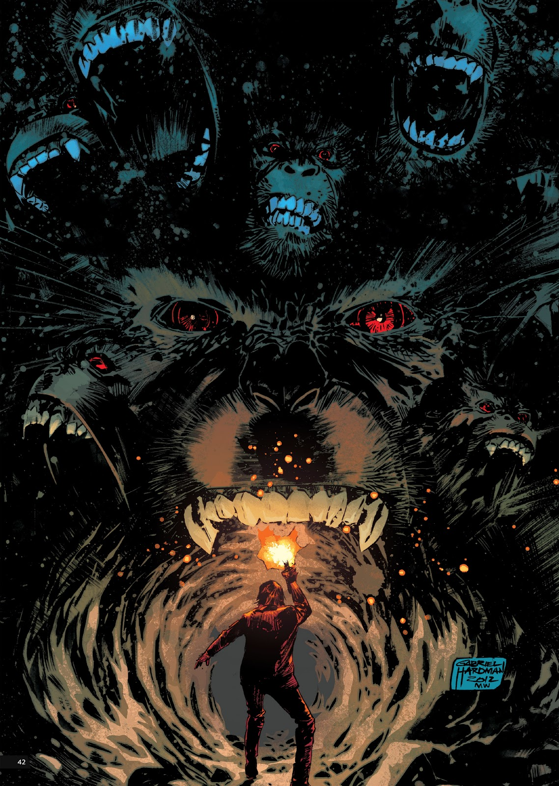 Read online Planet of the Apes Artist Tribute comic -  Issue # TPB - 42