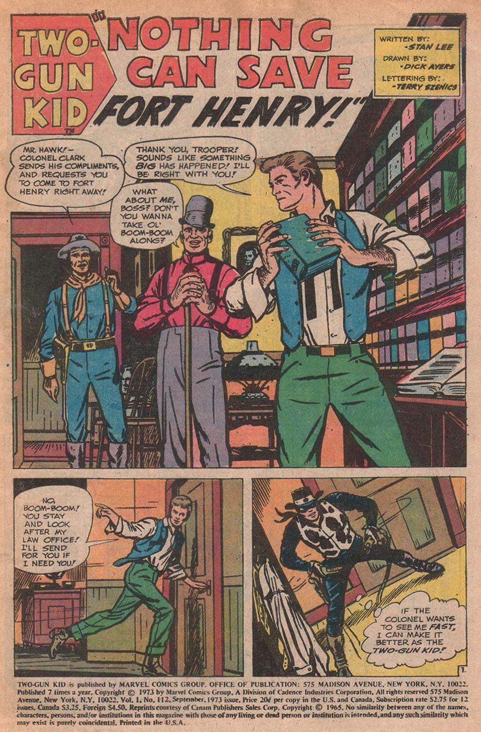 Read online Two-Gun Kid comic -  Issue #112 - 3