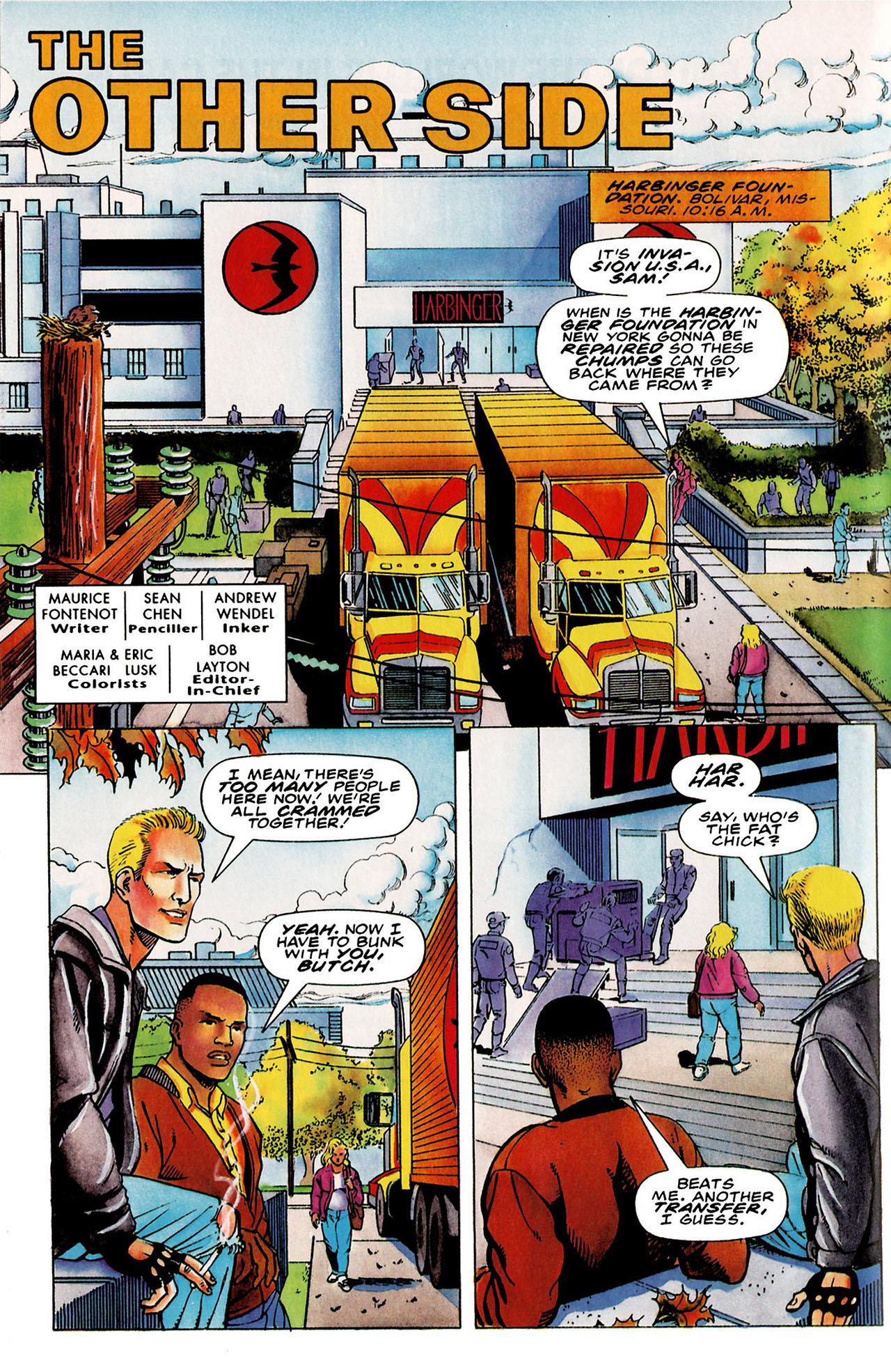 Read online Harbinger (1992) comic -  Issue #26 - 6