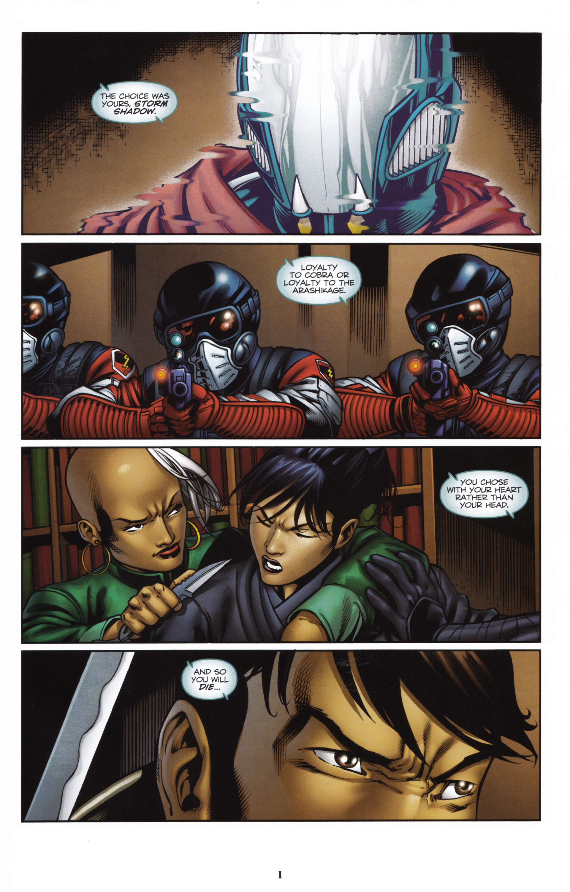 Read online Snake Eyes and Storm Shadow comic -  Issue #16 - 3