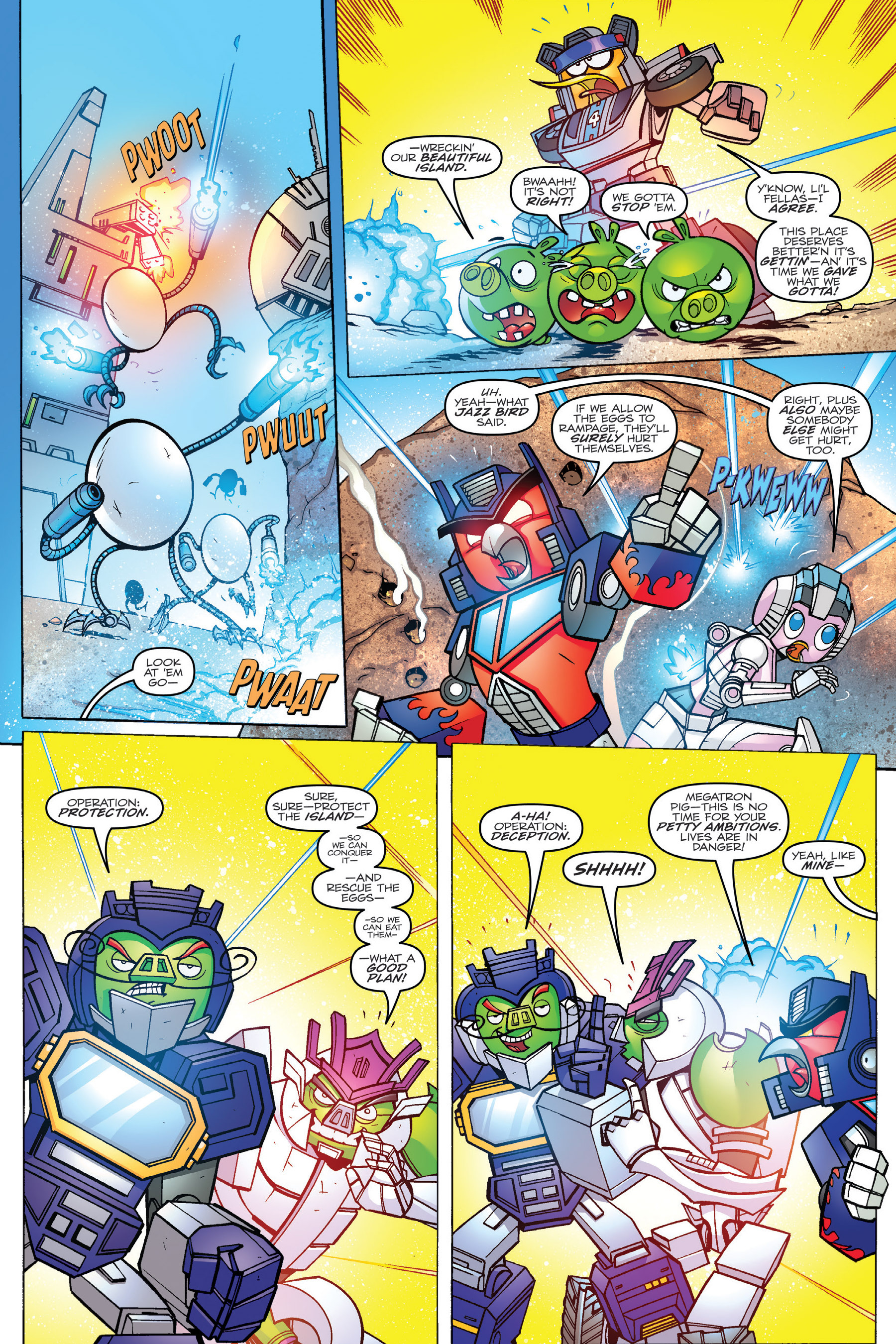 Read online Angry Birds Transformers: Age of Eggstinction comic -  Issue # Full - 52