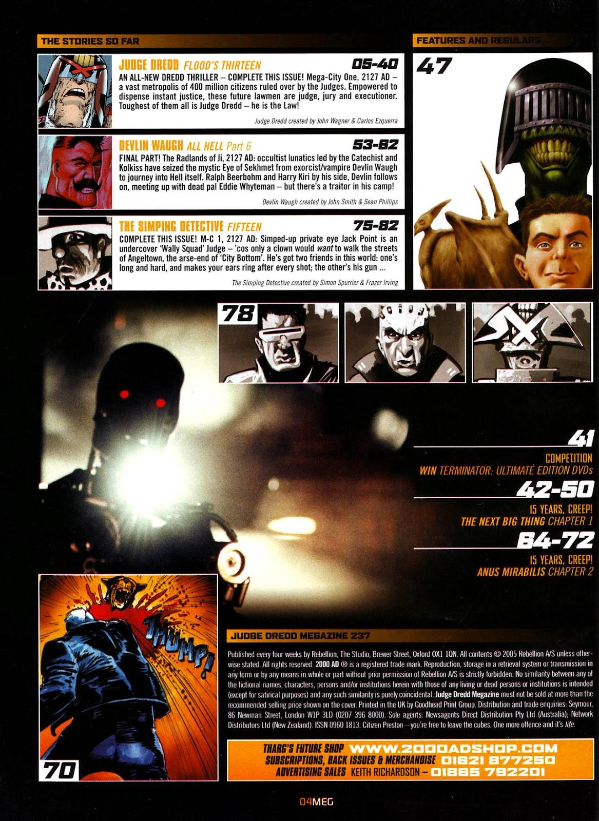 ... Judge Dredd Megazine (Vol. 5) Issue #237 #37 - English 6 ...