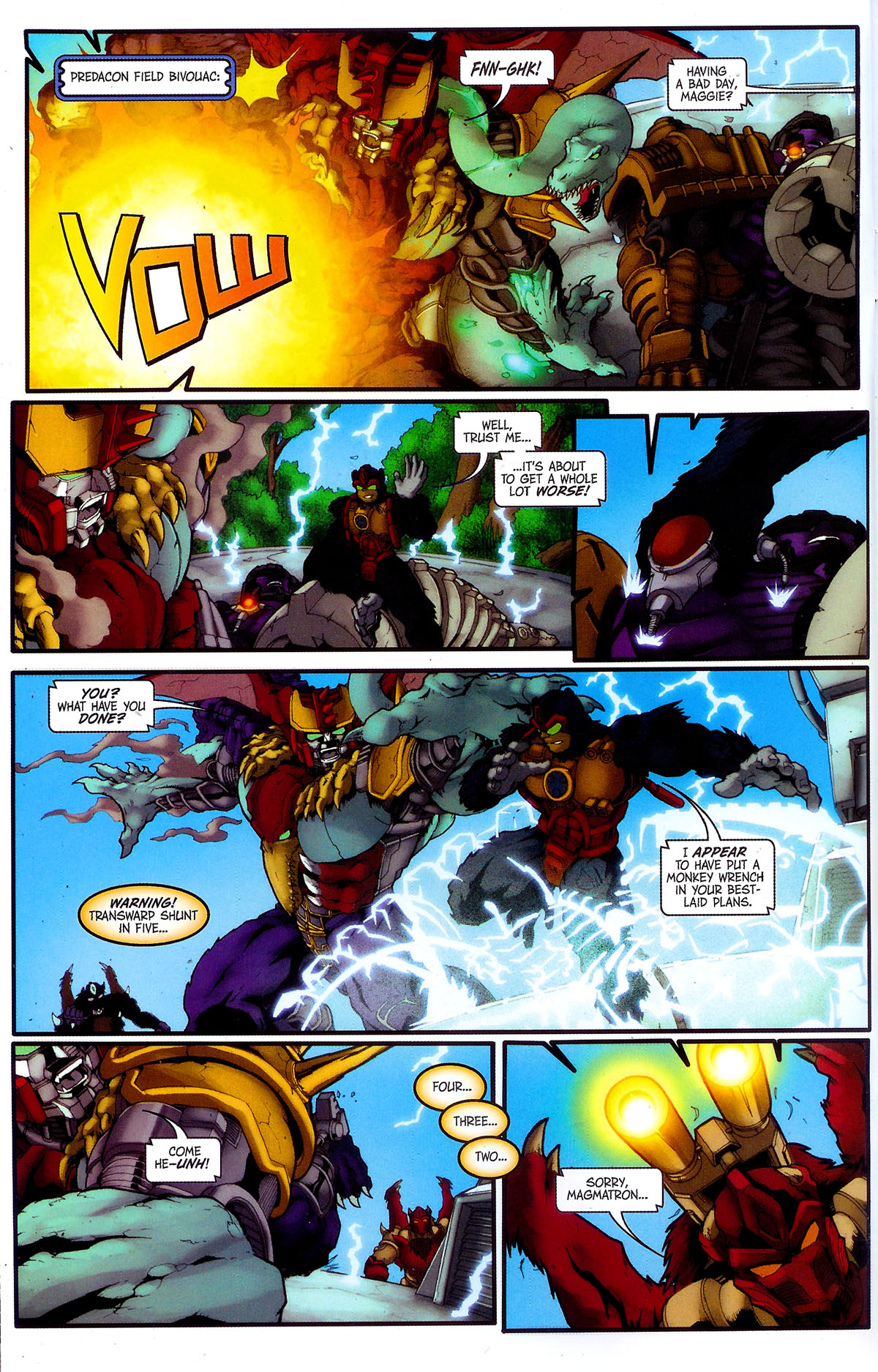 Read online Transformers, Beast Wars: The Gathering comic -  Issue #4 - 22