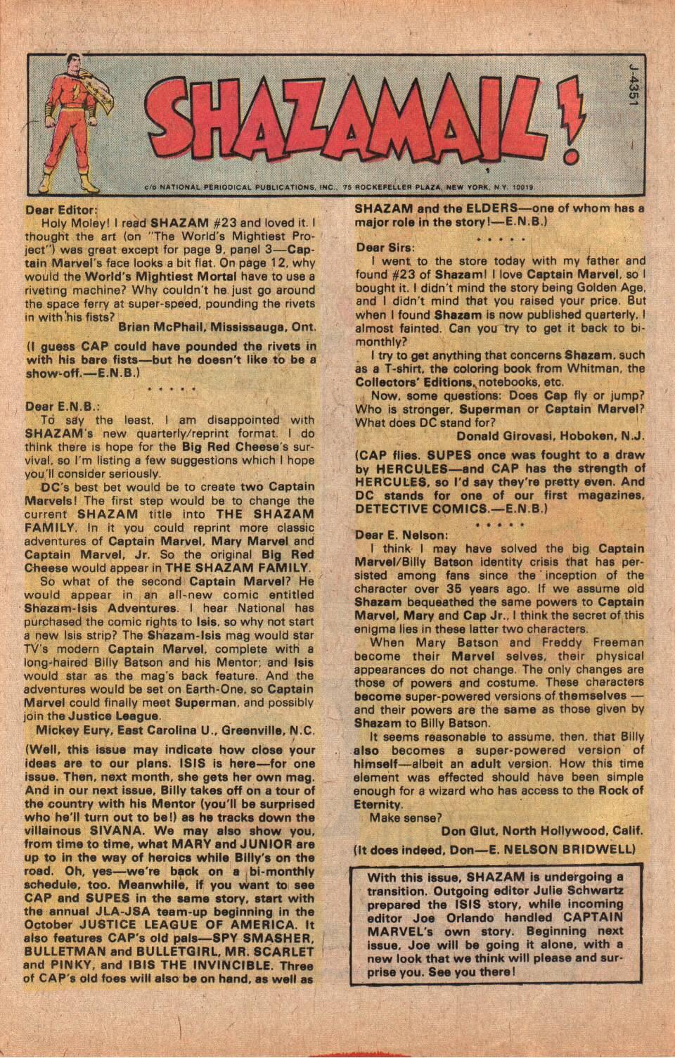 Read online Shazam! (1973) comic -  Issue #25 - 32