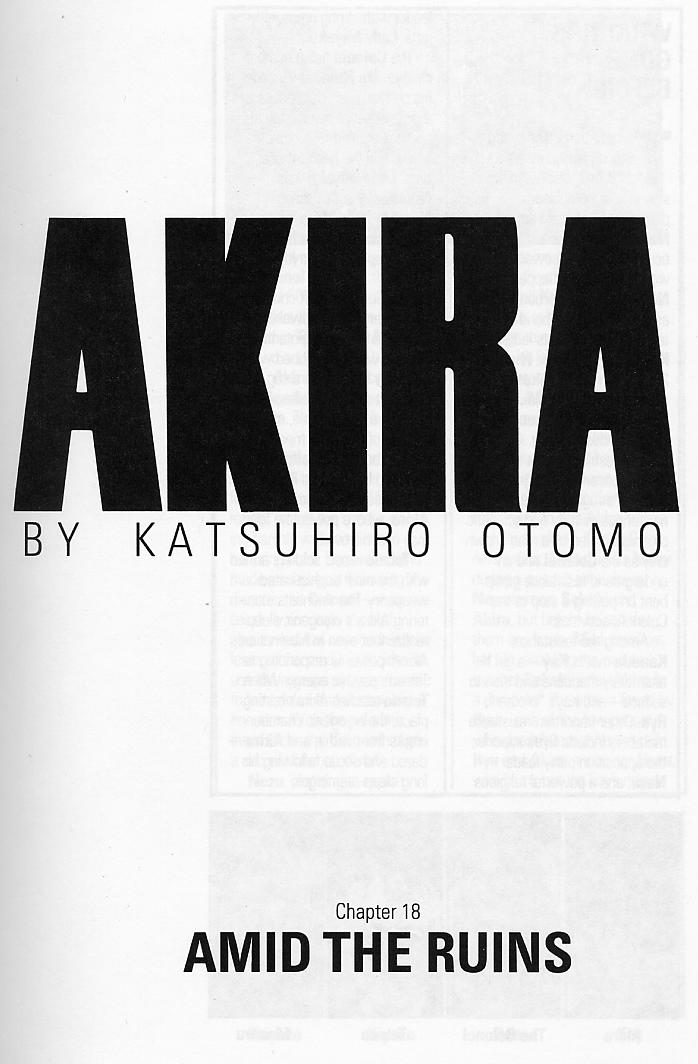 Read online Akira comic -  Issue #18 - 4