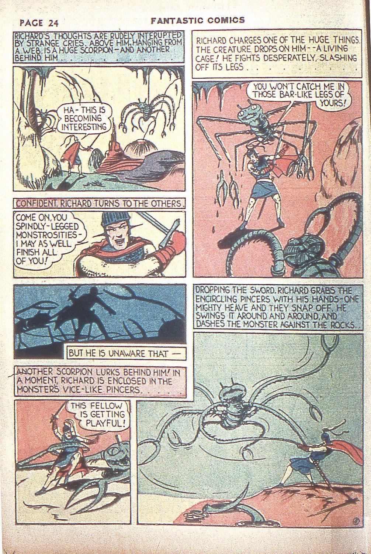 Read online Fantastic Comics comic -  Issue #4 - 26