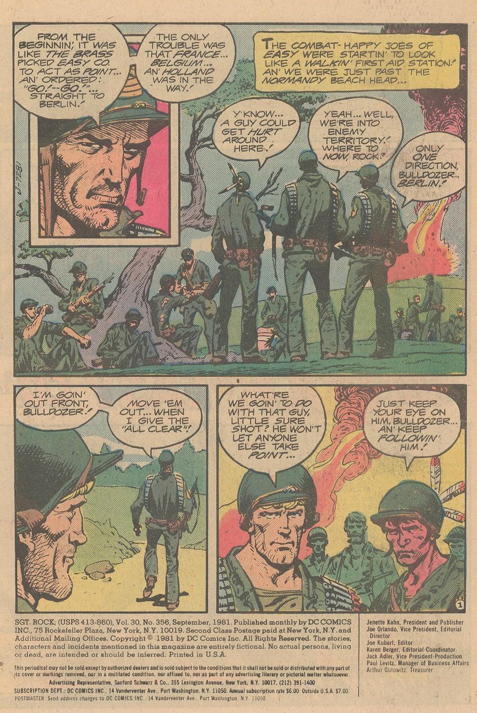 Read online Sgt. Rock comic -  Issue #356 - 2