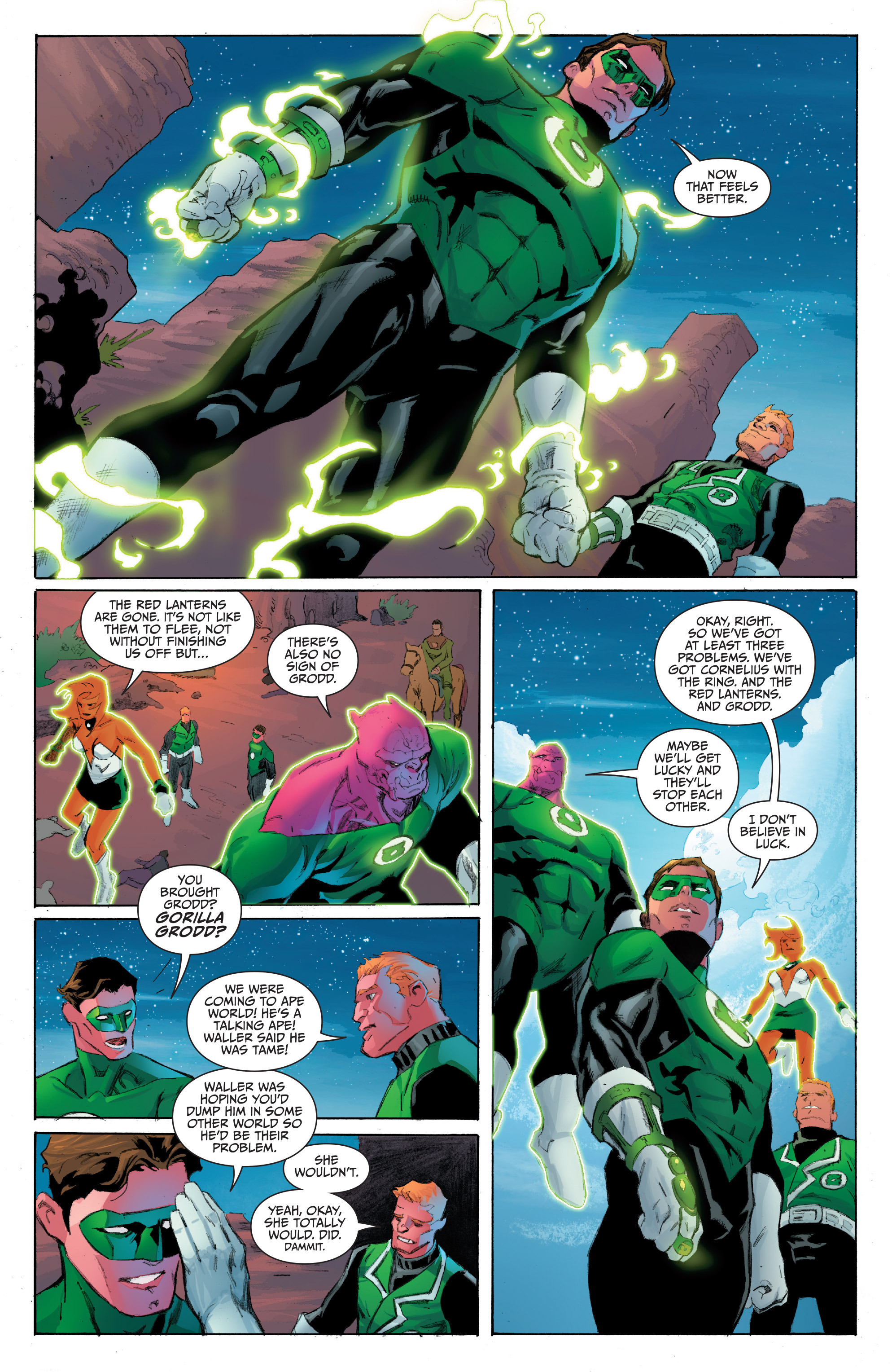 Read online Planet of the Apes/Green Lantern comic -  Issue #4 - 14