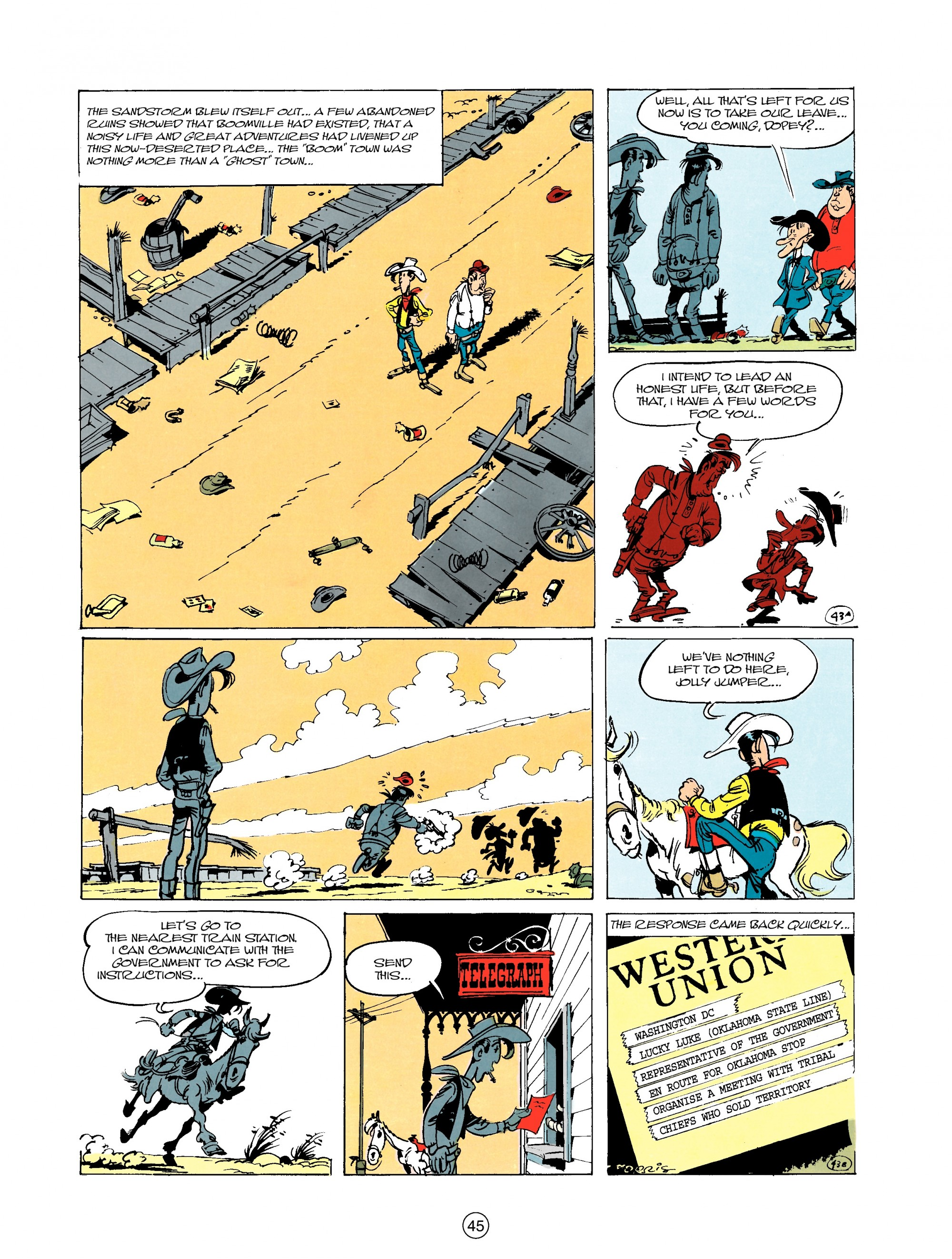Read online A Lucky Luke Adventure comic -  Issue #20 - 45