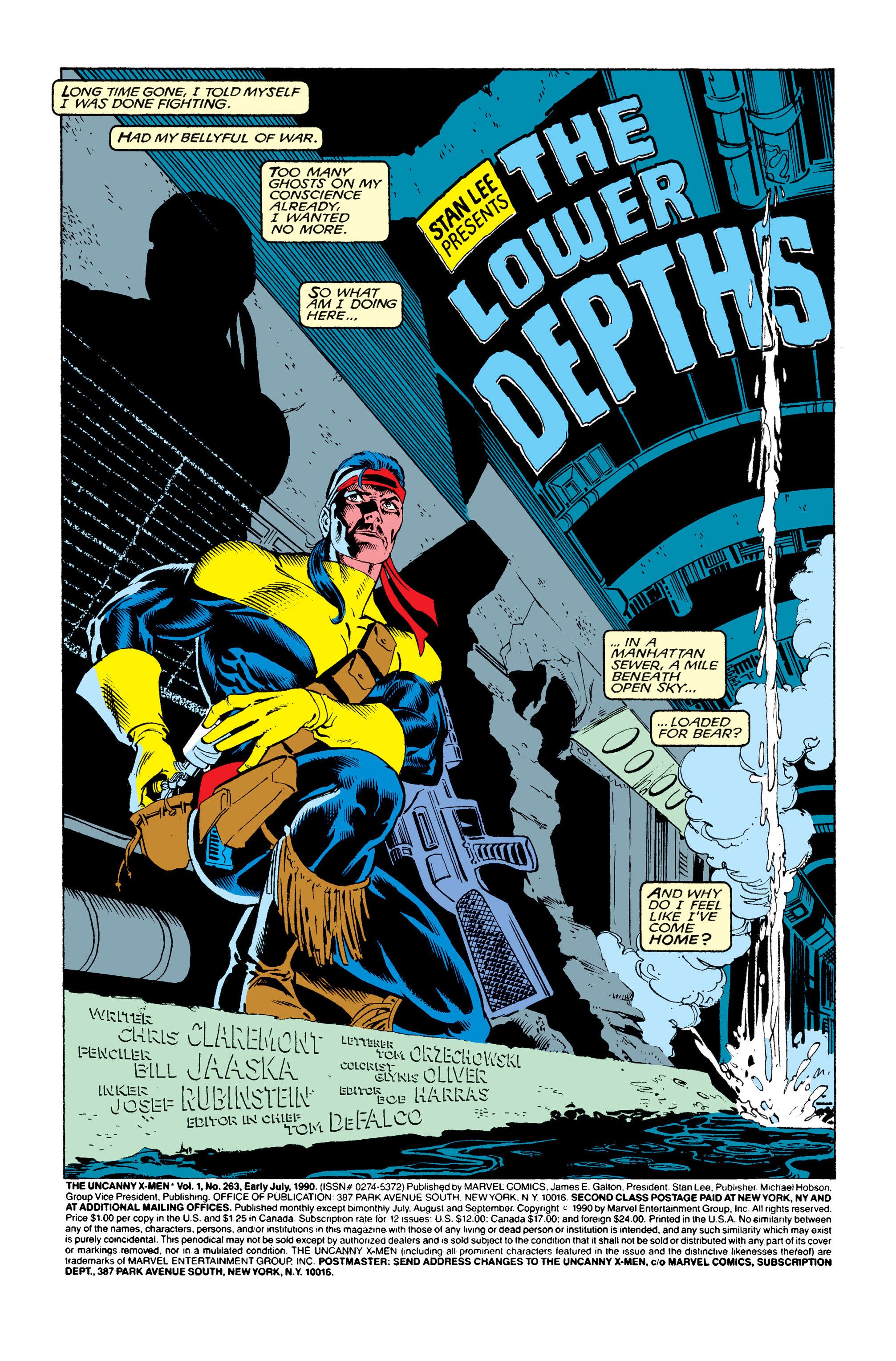 Read online Uncanny X-Men (1963) comic -  Issue #263 - 2
