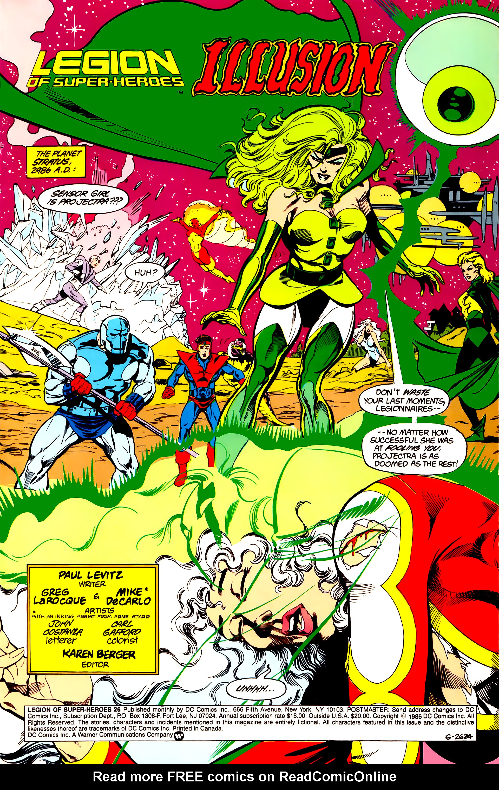 Legion of Super-Heroes (1984) 26 Page 2