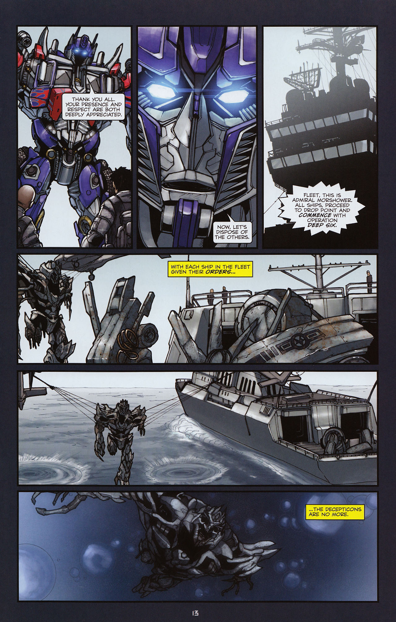 Read online Transformers: Alliance comic -  Issue #3 - 14