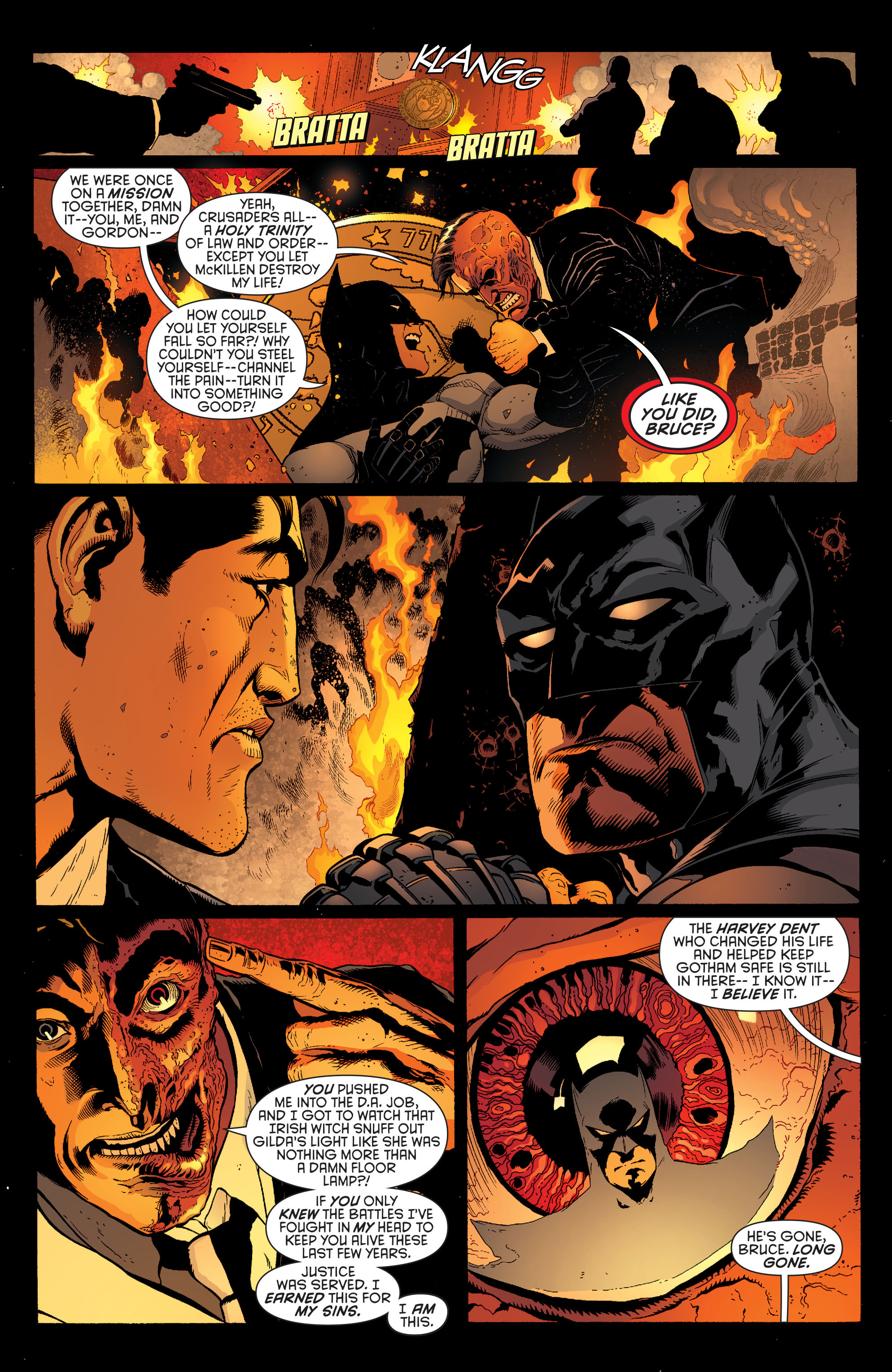 Read online Batman and Robin (2011) comic -  Issue #28 - Batman and Two-Face - 7