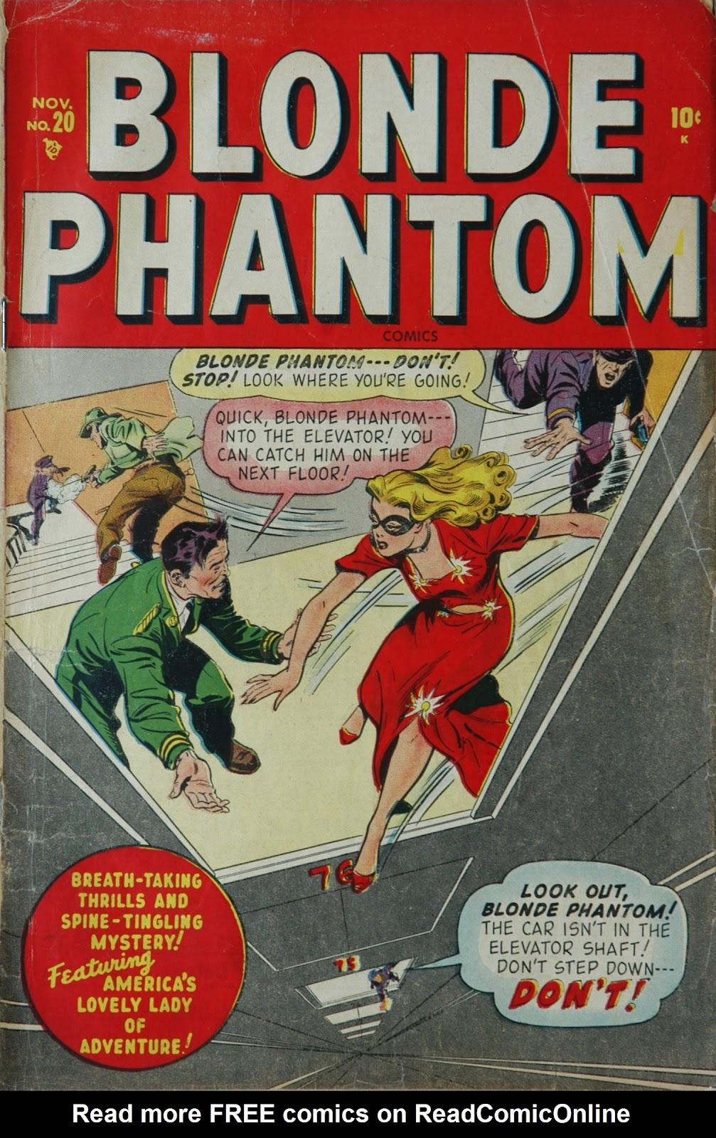 Blonde Phantom Comics 20 Page 1