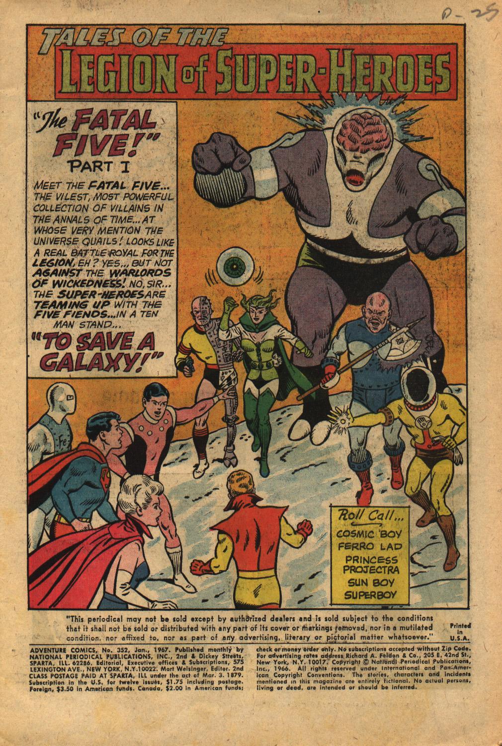 Read online Adventure Comics (1938) comic -  Issue #352 - 3