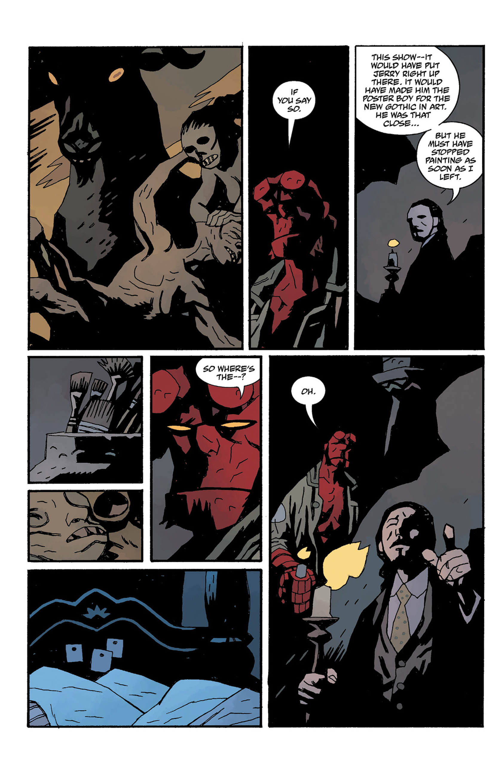 Read online Hellboy: The Crooked Man and Others comic -  Issue # TPB - 114