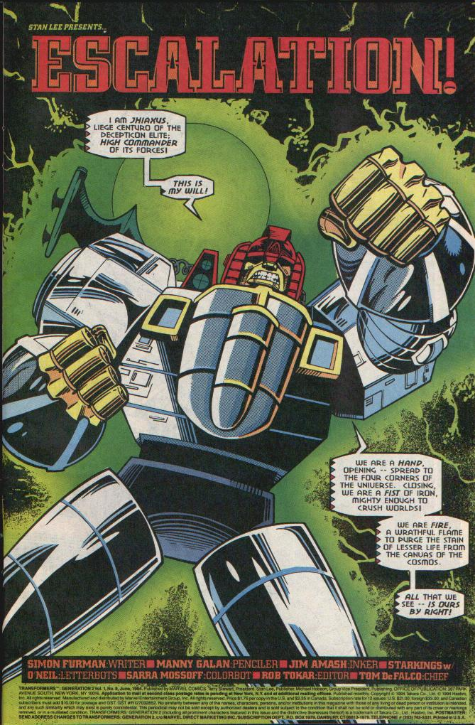 Read online Transformers: Generation 2 comic -  Issue #8 - 2