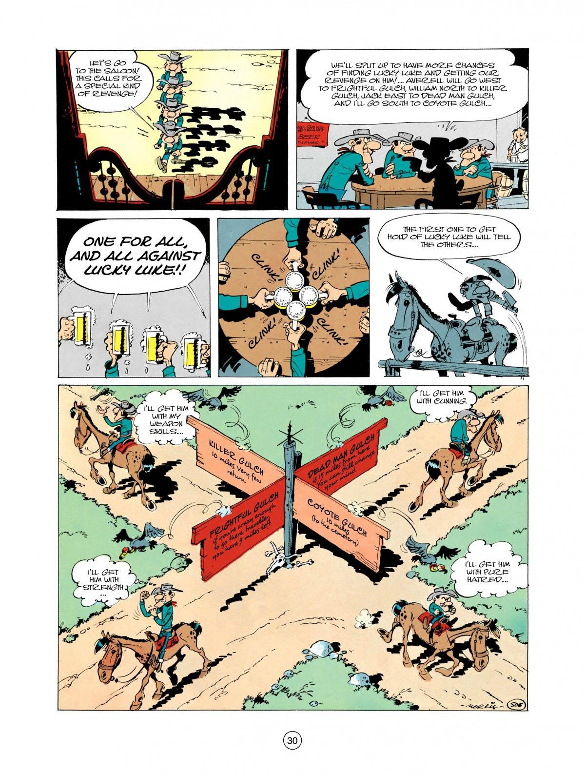 Read online A Lucky Luke Adventure comic -  Issue #28 - 31