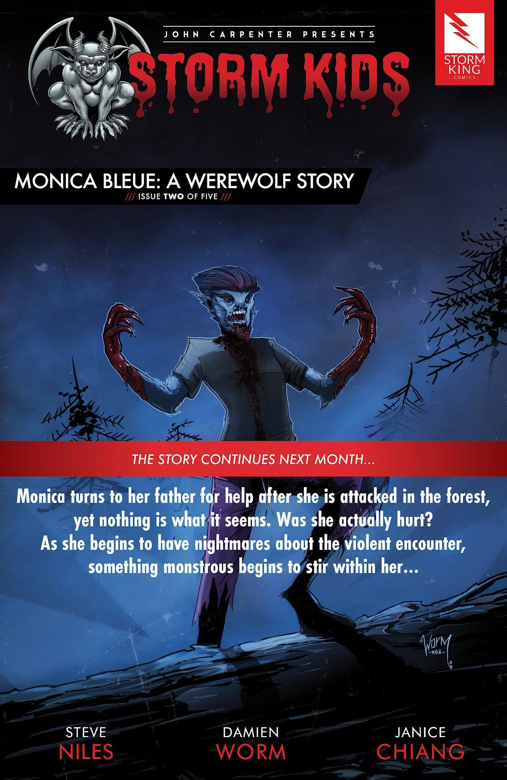 Read online John Carpenter Presents Storm Kids: Monica Bleue: A Werewolf Story comic -  Issue #1 - 25