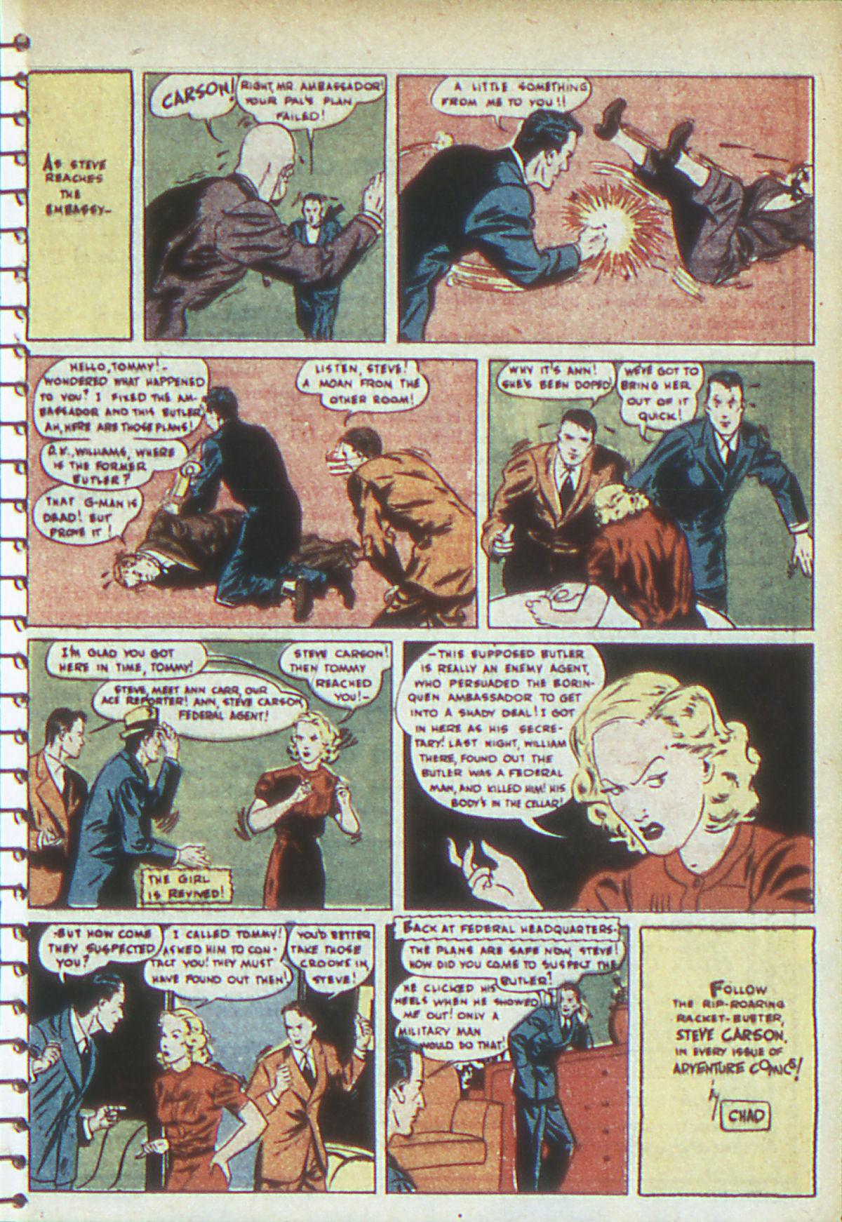 Read online Adventure Comics (1938) comic -  Issue #54 - 30