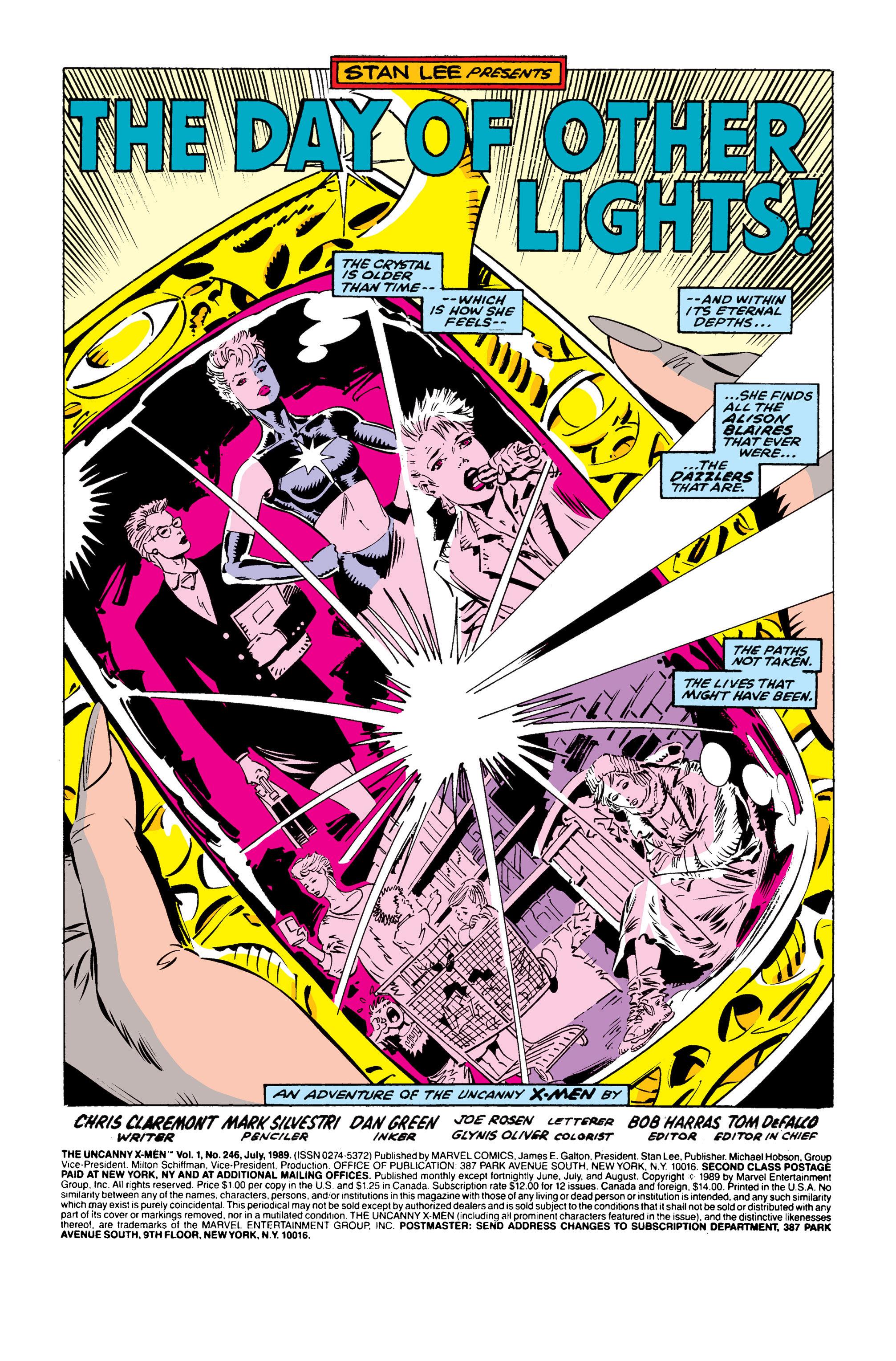 Read online Uncanny X-Men (1963) comic -  Issue #246 - 2