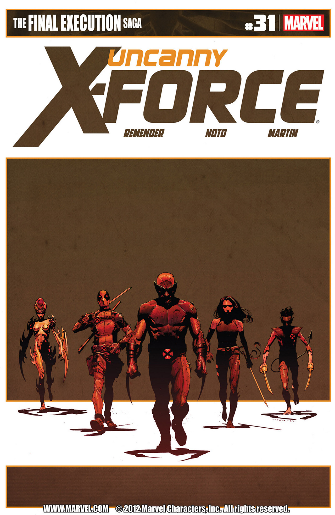 Read online Uncanny X-Force (2010) comic -  Issue #31 - 1