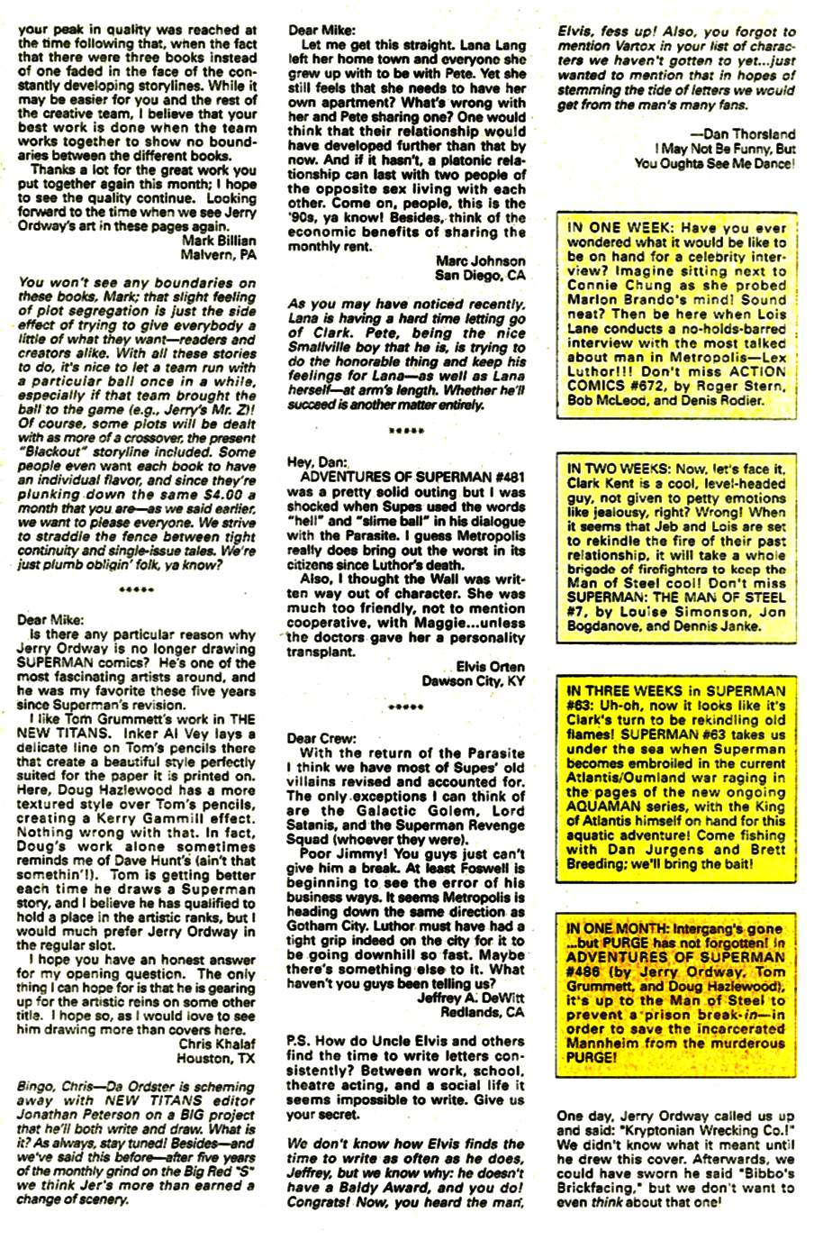 Read online Adventures of Superman (1987) comic -  Issue #485 - 25