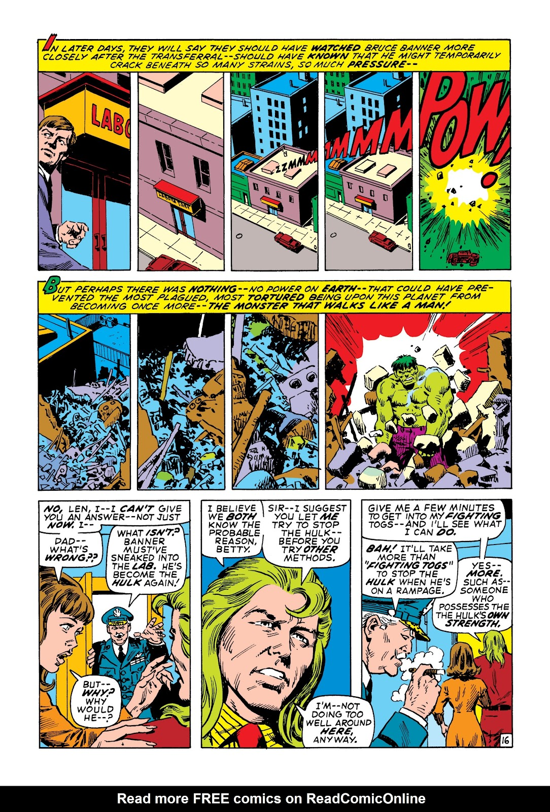 Read online Marvel Masterworks: The Incredible Hulk comic -  Issue # TPB 7 (Part 2) - 62