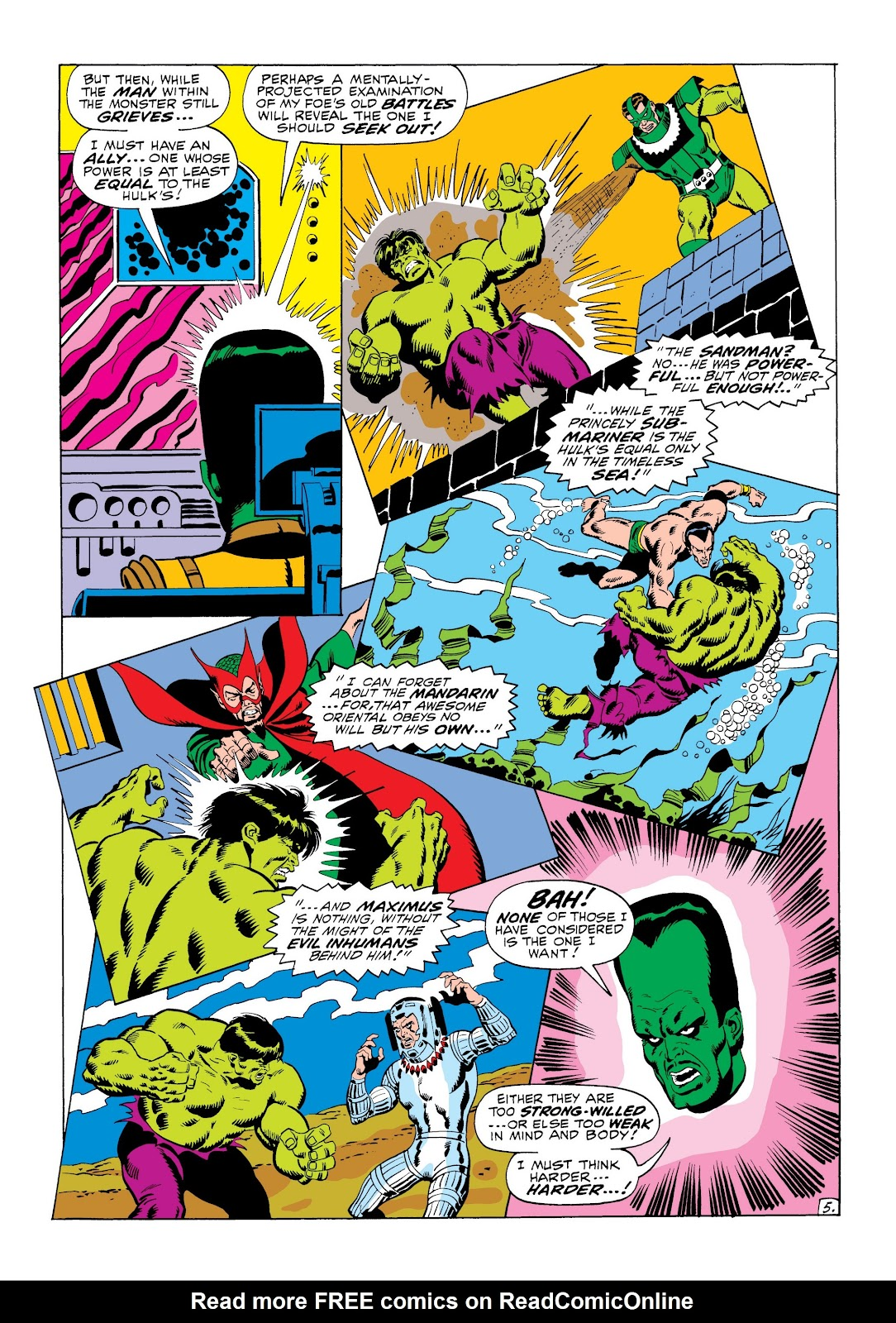 Read online Marvel Masterworks: The Incredible Hulk comic -  Issue # TPB 6 (Part 1) - 56
