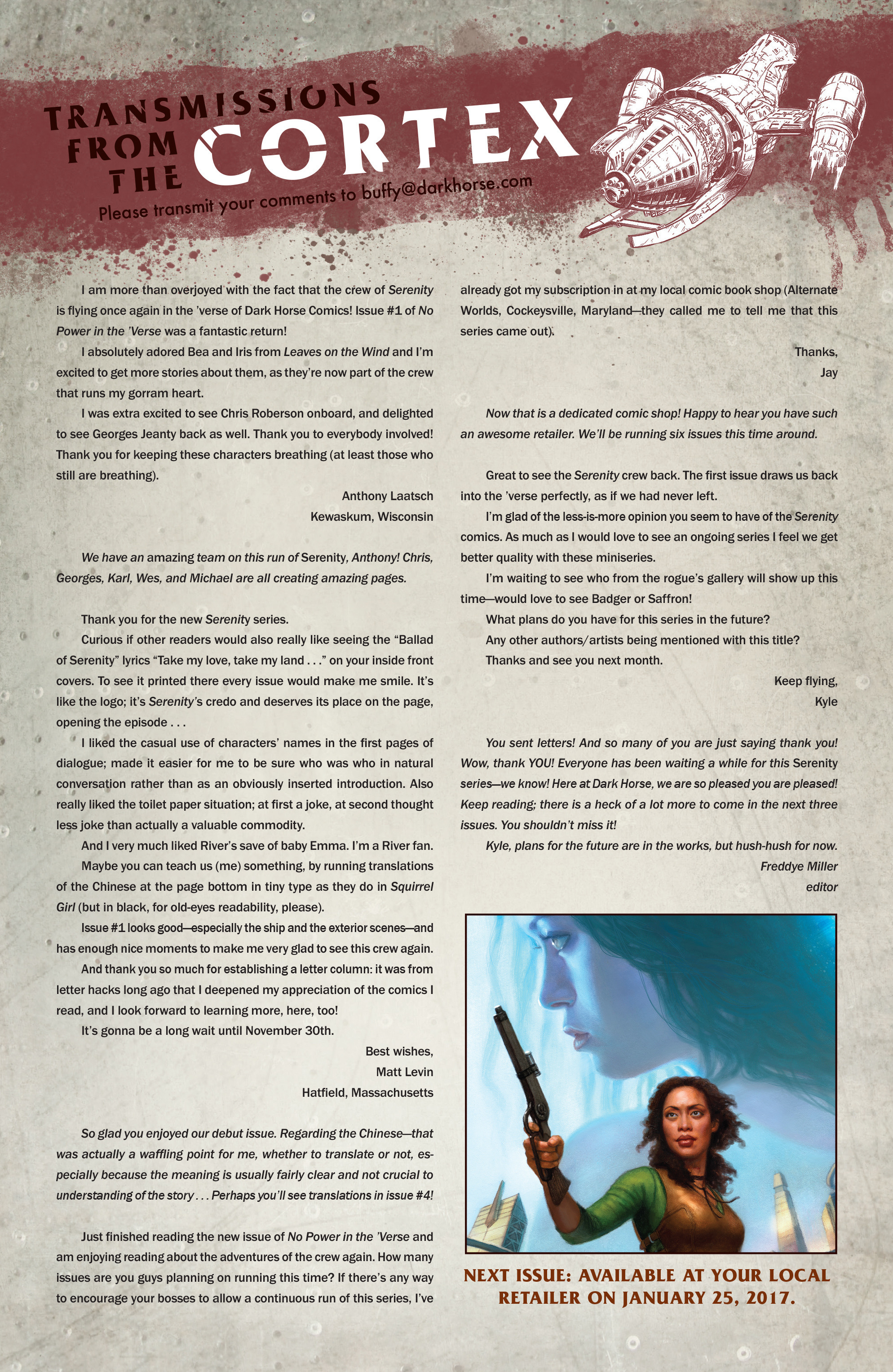 Read online Serenity: Firefly Class 03-K64 – No Power in the 'Verse comic -  Issue #3 - 26