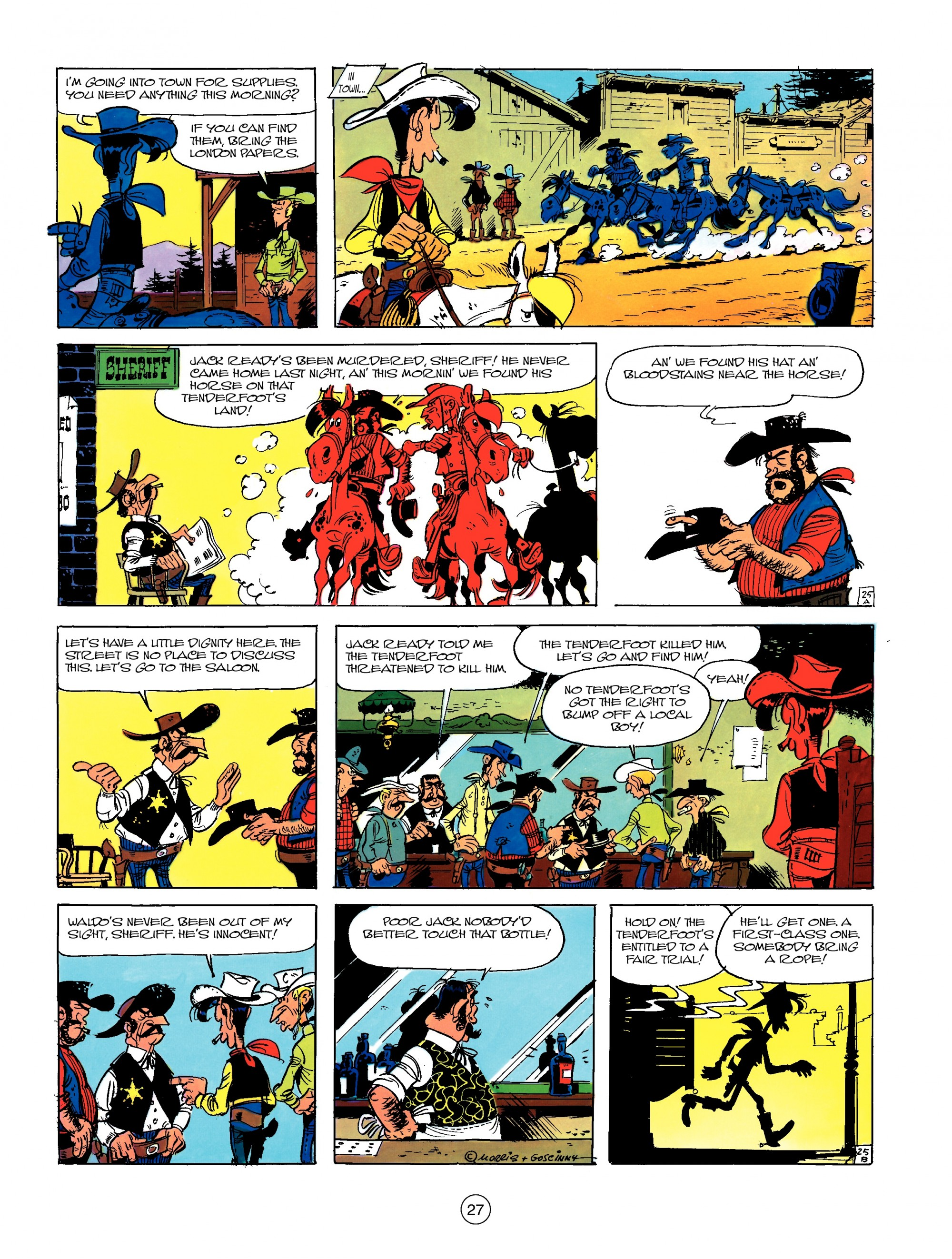 Read online A Lucky Luke Adventure comic -  Issue #13 - 27