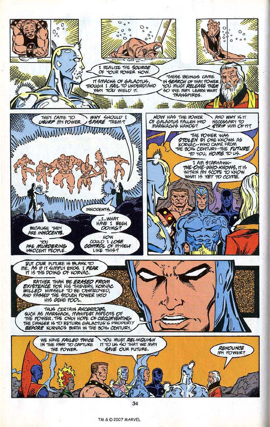 Read online Silver Surfer (1987) comic -  Issue # _Annual 4 - 36