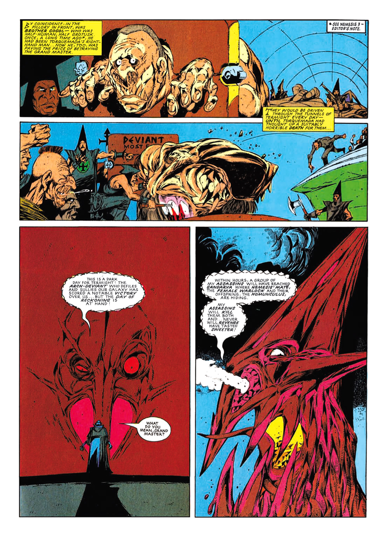 Read online Nemesis The Warlock comic -  Issue # TPB Deviant Edition - 209