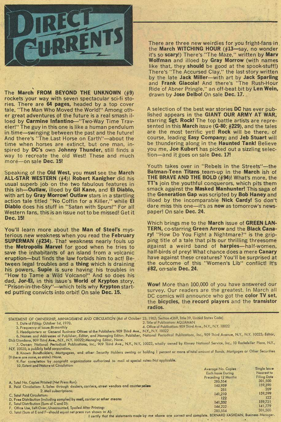 Read online Aquaman (1962) comic -  Issue #56 - 31