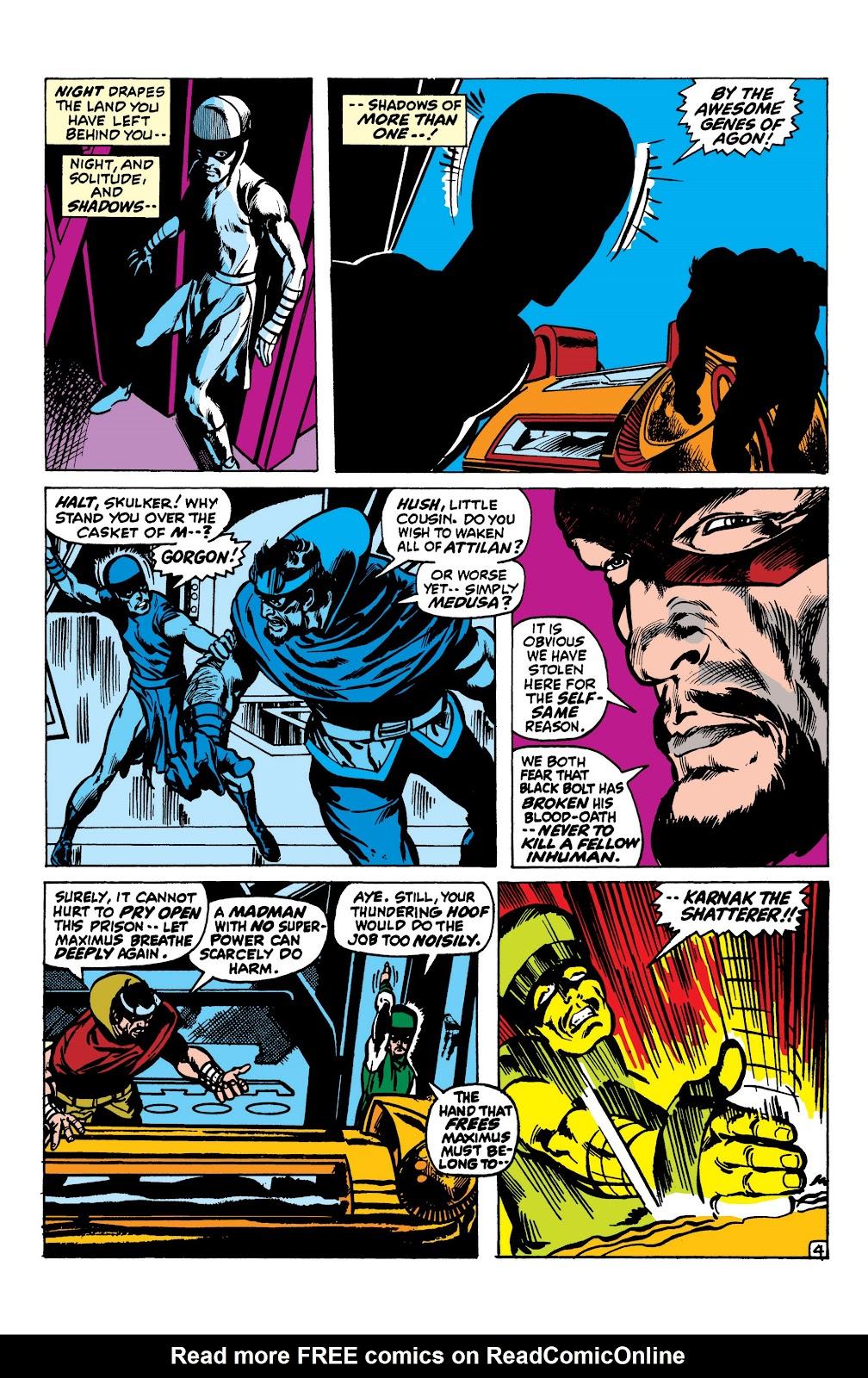 Read online Marvel Masterworks: The Inhumans comic -  Issue # TPB 1 (Part 2) - 17